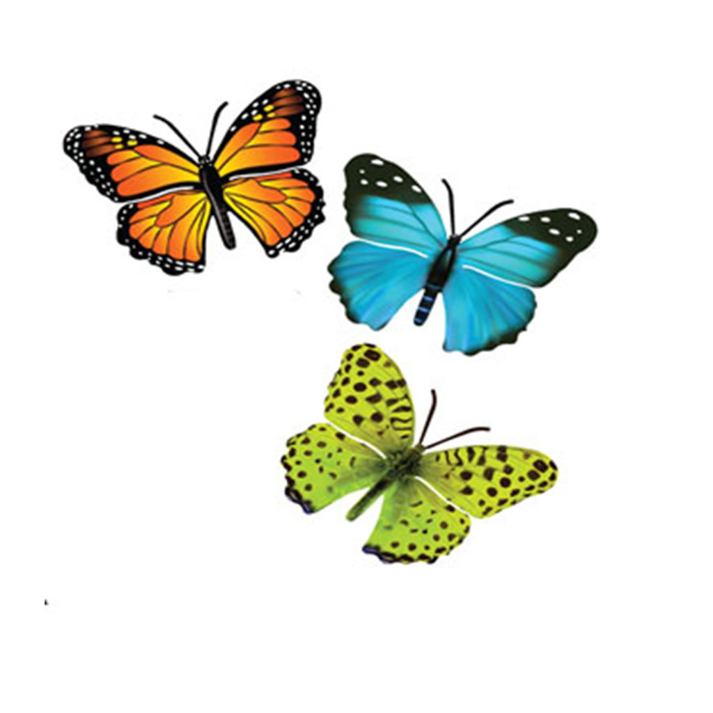 Newest Ila Metal Butterfly Wall Decor In August Grove 3 Piece Butterfly Wall Decor Set & Reviews (View 8 of 20)