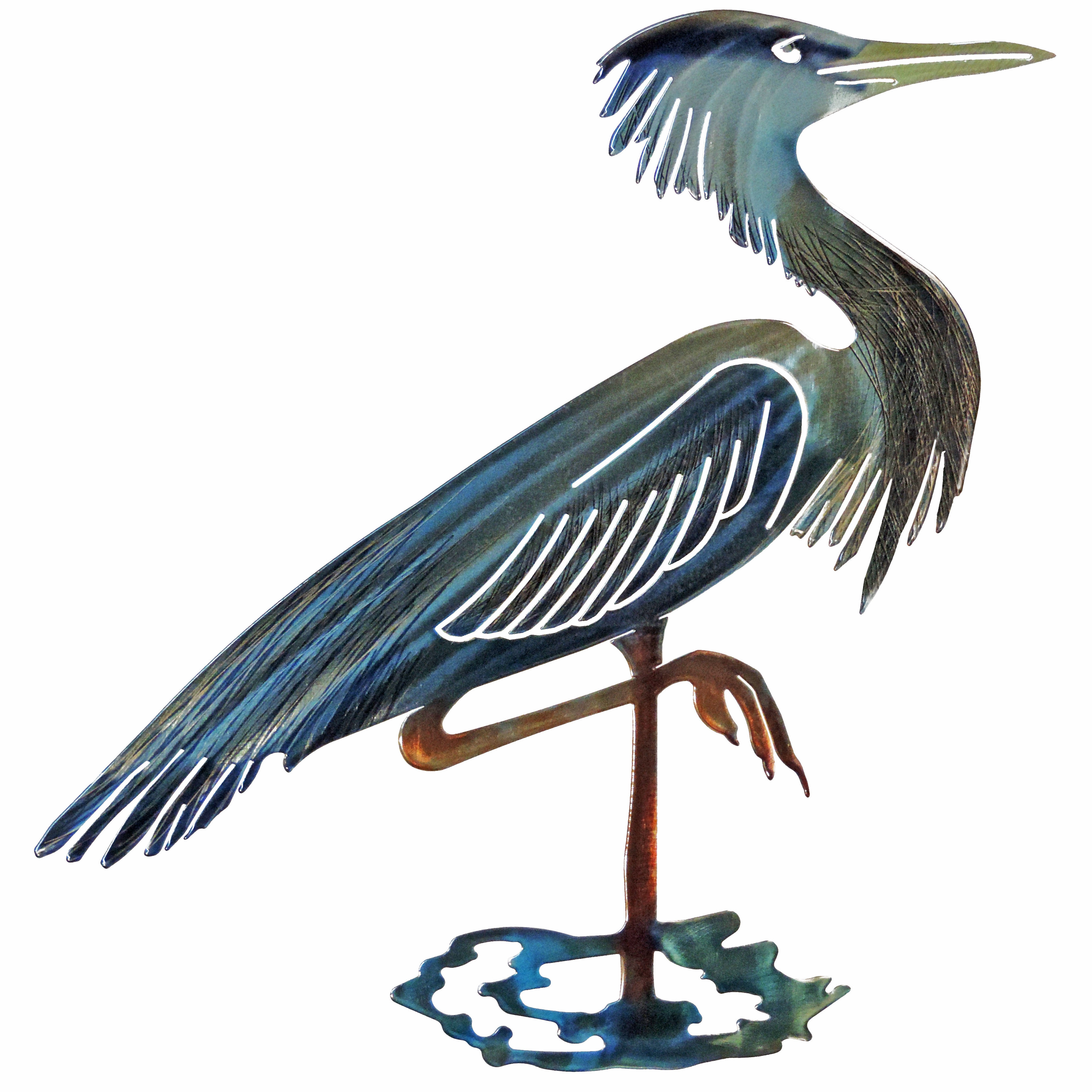 Osceola Double Heron Wall Decor Throughout Trendy Highland Dunes 3D Heron Wall Décor & Reviews (View 10 of 20)