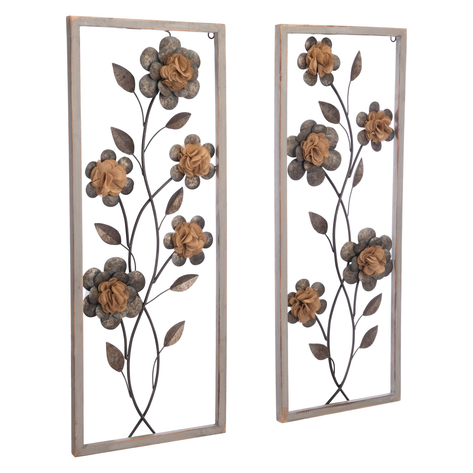 Panel Wood Wall Decor Sets (Set Of 2) With Regard To Most Recent Zuo Modern Contemporary Set Of 2 Daisy Metal Wall Accents (View 13 of 20)