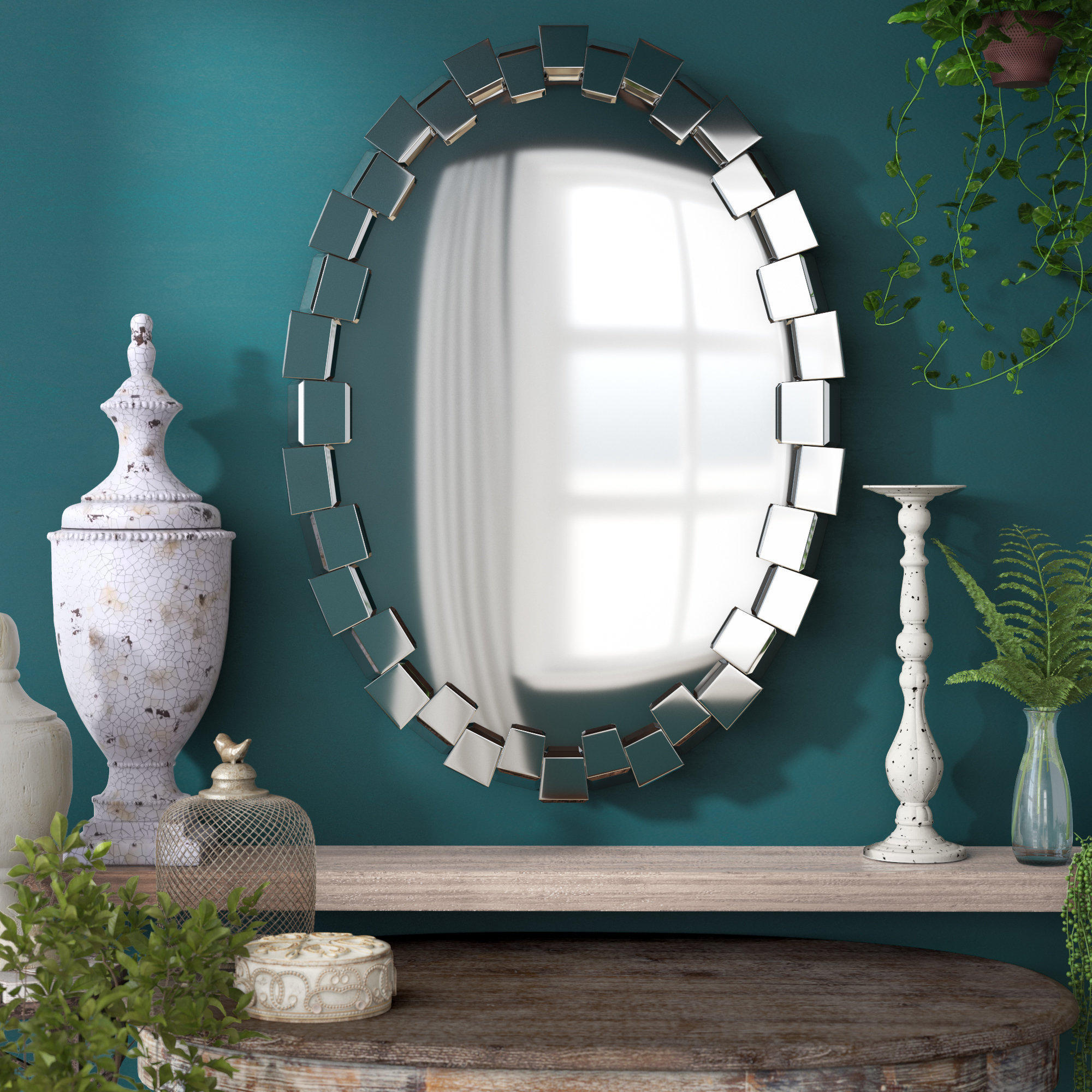 Pennsburg Rectangle Wall Mirror By Wade Logan With Regard To Famous Wade Logan Pennsburg Accent Wall Mirror (View 13 of 20)