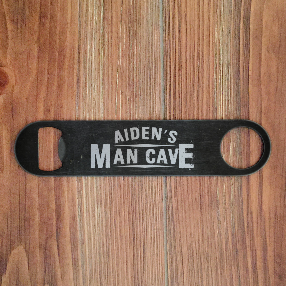 Personalized Mint Distressed Vintage-Look Laundry Metal Sign Wall Decor inside Most Current Personalized Man Cave Beer Bottle Opener