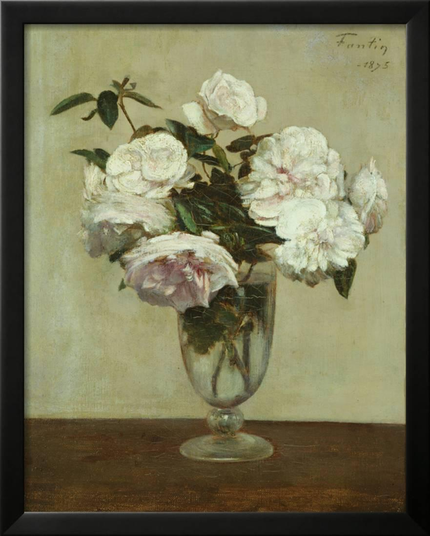 Pink Roses, 1875 Framed Print Wall Arthenri Fantin Latour Pertaining To Most Current Latour Wall Decor (View 16 of 20)