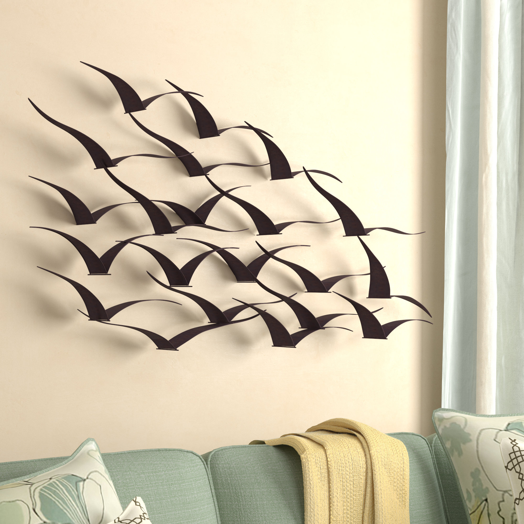 Preferred Birds Wall Décor Within Desford Leaf Wall Decor By Charlton Home (View 13 of 20)