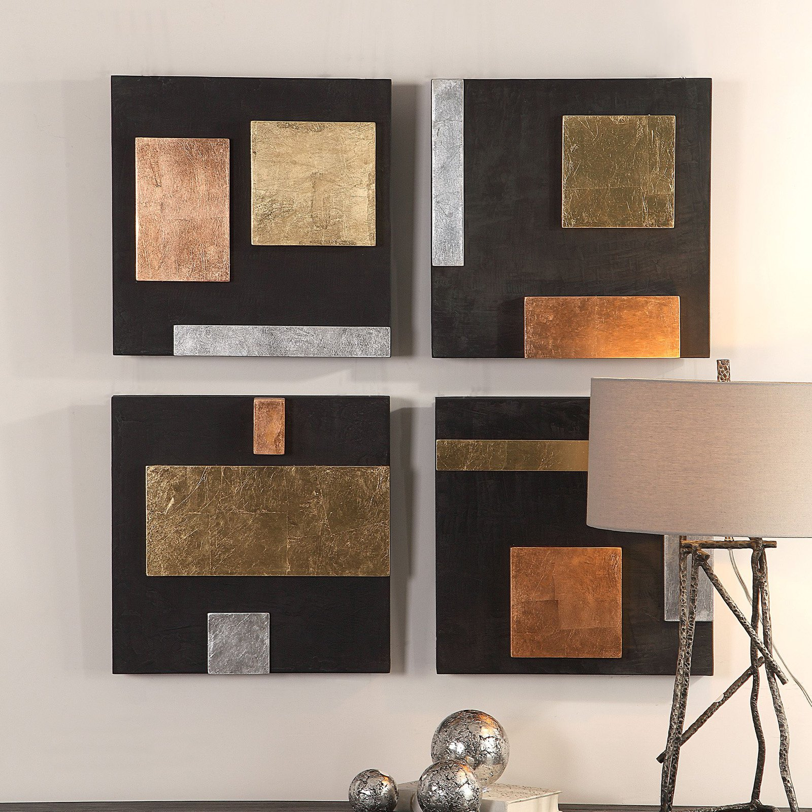 Products With Regard To Metal Wall Decor (Set Of 4) (View 15 of 20)