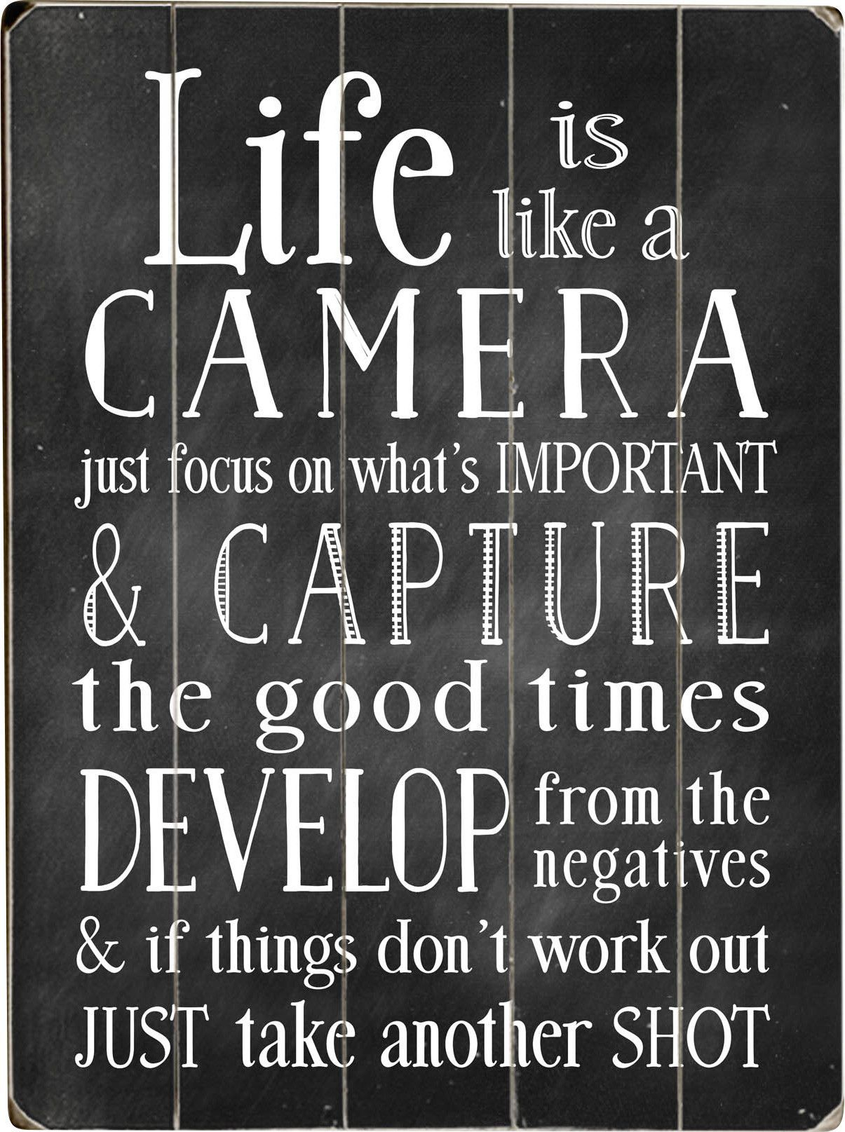 Quotes With Regard To Newest Life Is Like A Camera Textual Art (View 3 of 20)