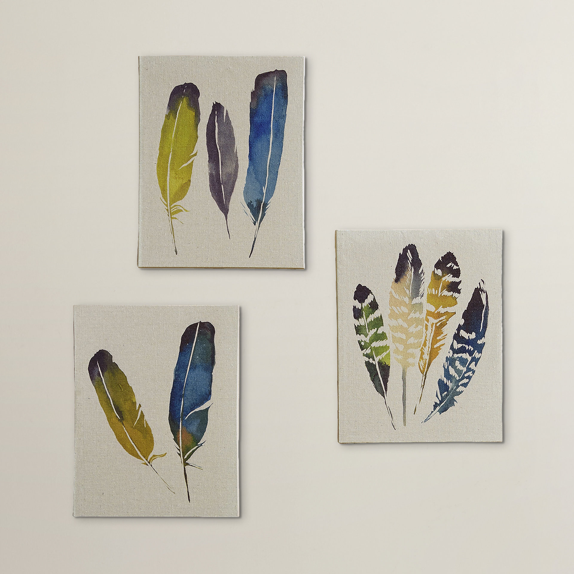 Recent 3 Piece Wall Decor Sets By Wrought Studio For Wrought Studio 'in The Wind' 3 Piece Painting Print Set On Canvas (View 10 of 20)