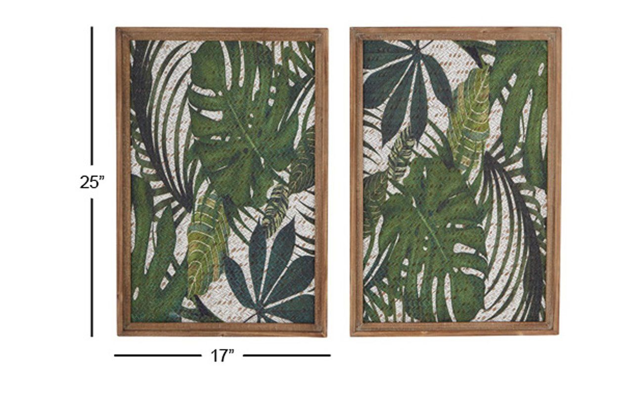 Recent 4 Piece Wall Decor Sets By Charlton Home Pertaining To Bellefonte 2 Piece Wood Leaf Art Wall Decor Set (View 13 of 20)