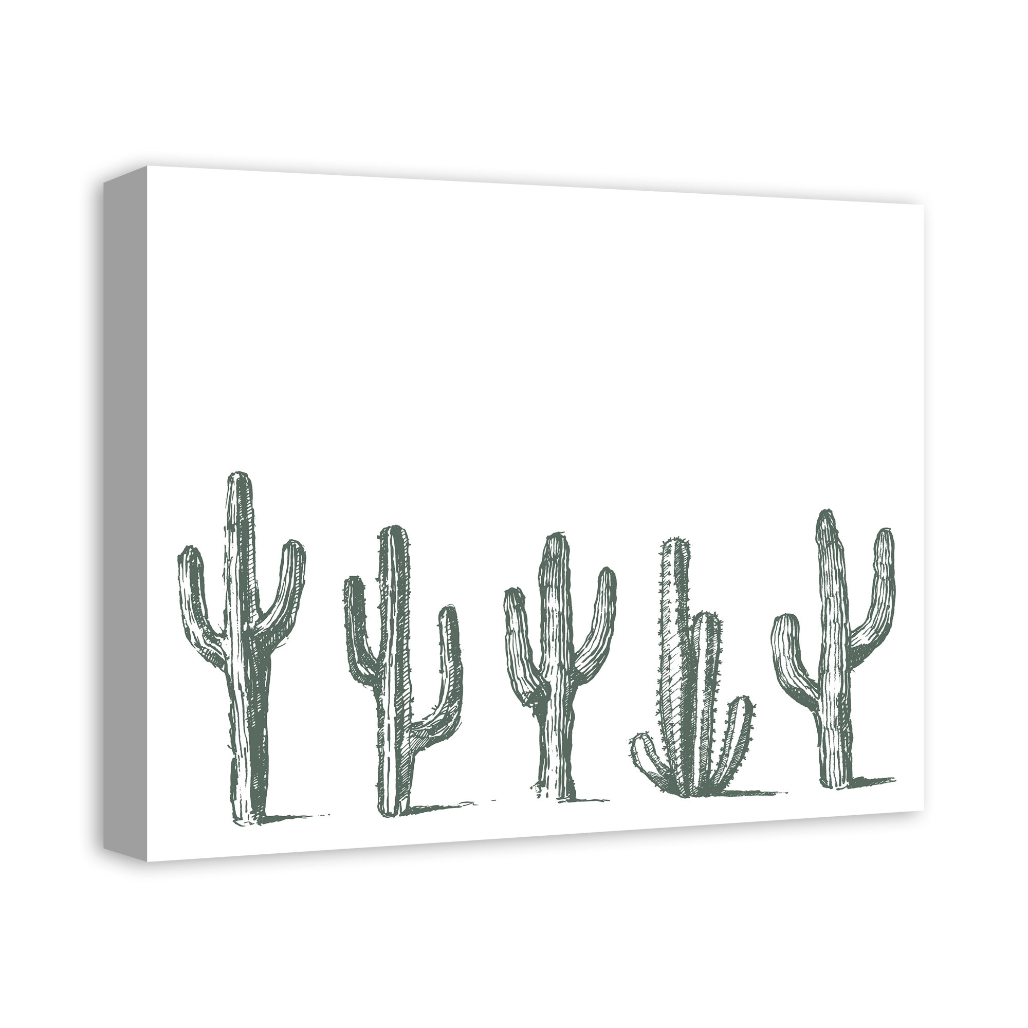 Recent Highlands Ranch The Templeton Wall Decor Within A Line Of Cactus' Print On Wrapped Canvas (View 11 of 20)