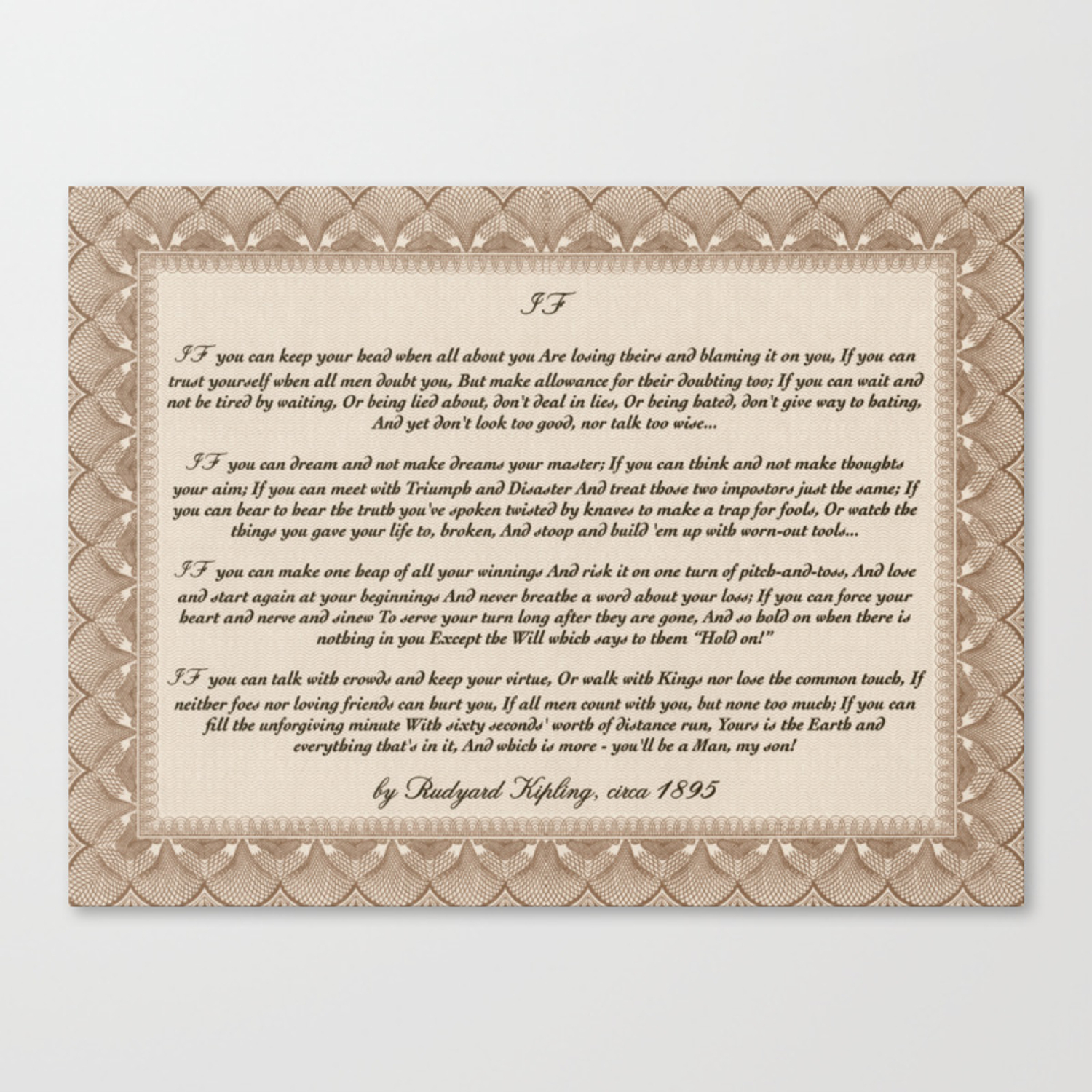 Recent Inspirational Typography Wall Art, If Quote, Written In 1895 In Rectangle Like Yourself Inspirational Typography Wall Plaque (Gallery 7 of 20)