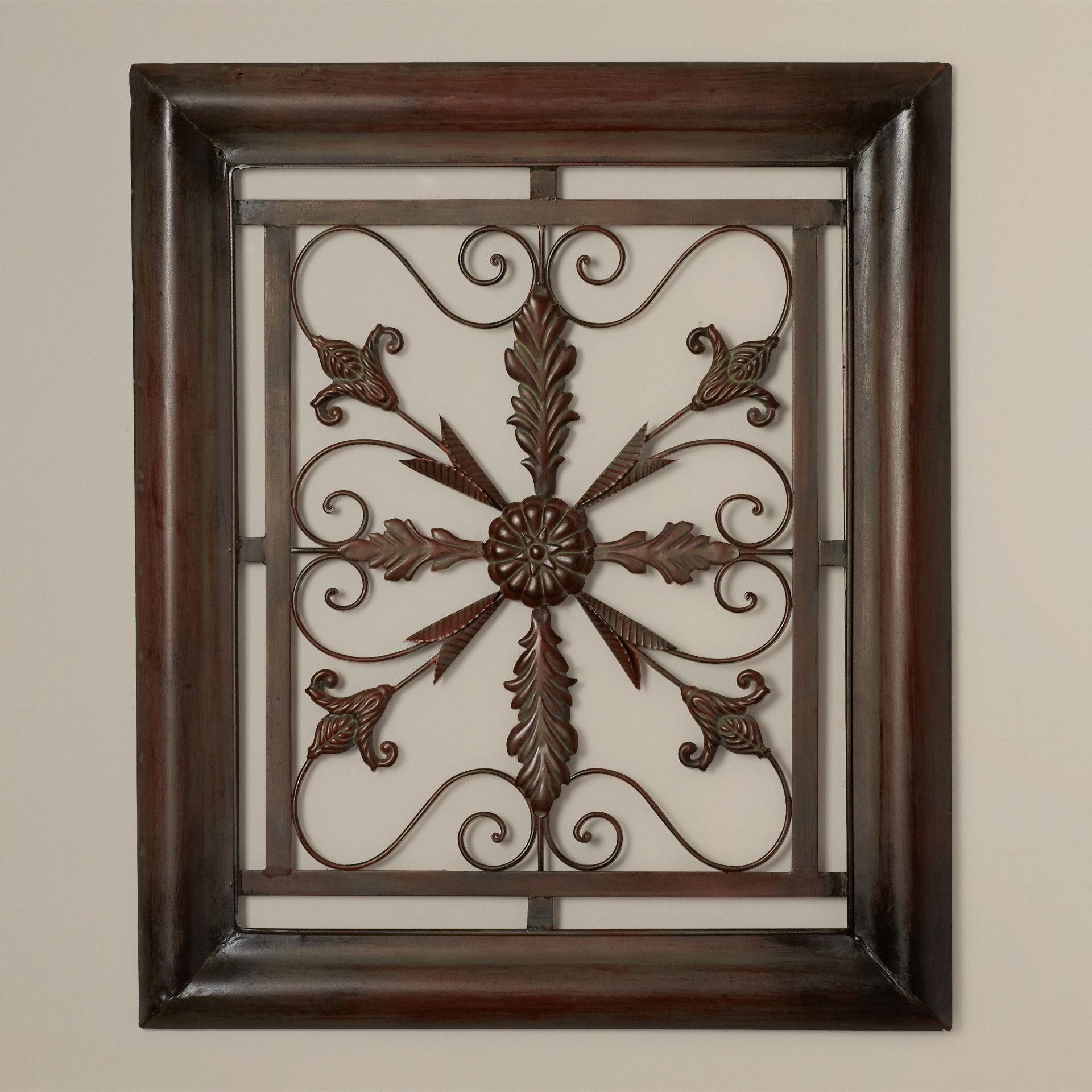 Recent Metal Wall Decor By Charlton Home Regarding Charlton Home® Bayliss Square Scroll Wall Decor (View 2 of 20)