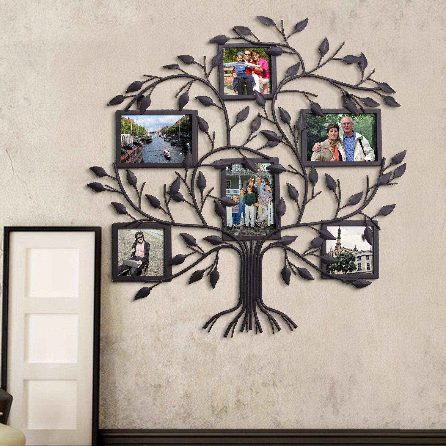 Red Barrel Studio 6 Opening Decorative Family Tree Wall Hanging For Trendy Tree Of Life Wall Decor By Red Barrel Studio (Gallery 15 of 20)