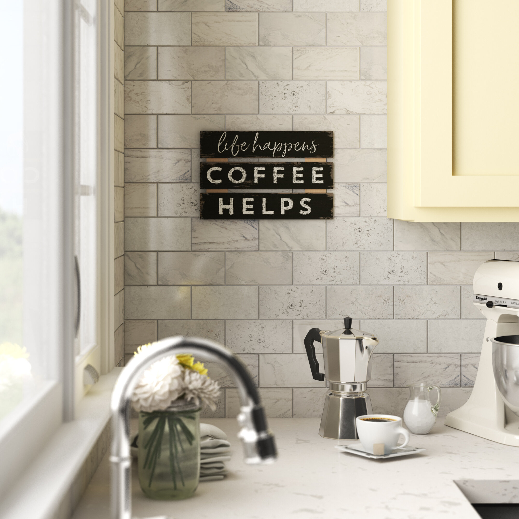 Red Barrel Studio Life Happens Coffee Wood Sign Wall Decor & Reviews With Regard To Current Coffee Sign With Rebar Wall Decor (Gallery 18 of 20)