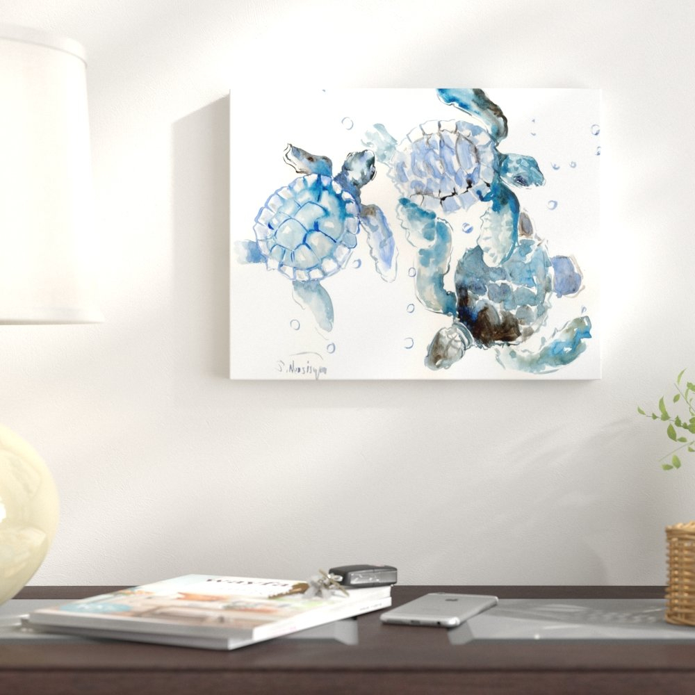 Rhys Turtle Decor Wall Decor Regarding 2020 East Urban Home 'sea Turtles' Watercolor Painting Print & Reviews (View 11 of 20)