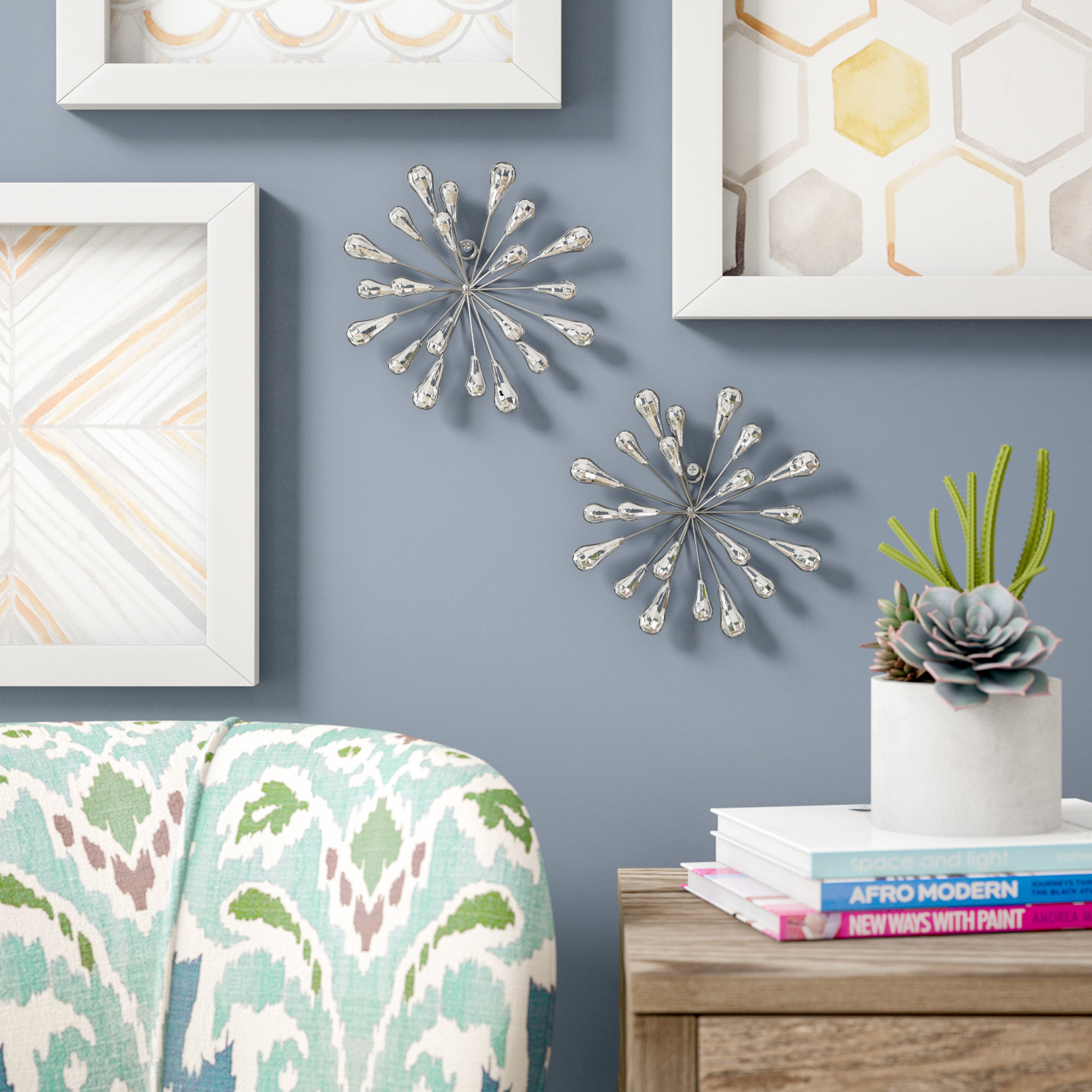 Rings Wall Decor By Wrought Studio Pertaining To Most Current Wrought Studio 2 Piece Starburst Wall Décor Set & Reviews (View 11 of 20)