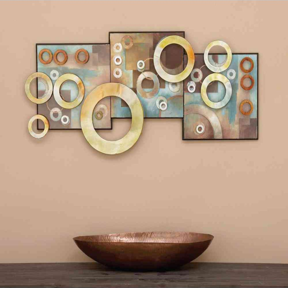 Rings Wall Decor By Wrought Studio Regarding 2020 Litton Lane 36 In. X 17 In (View 13 of 20)