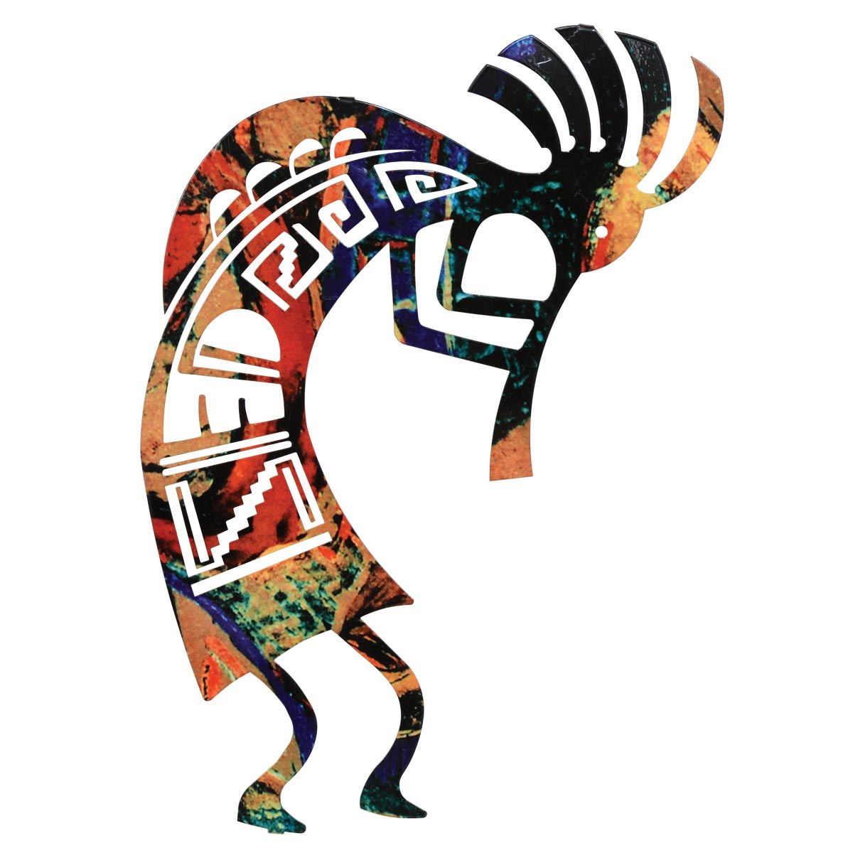 Rustic Metal Wall Art: 12 Inch Kokopelli Dance Metal Wall Art Throughout Favorite Dance Of Desire Wall Decor (View 10 of 20)
