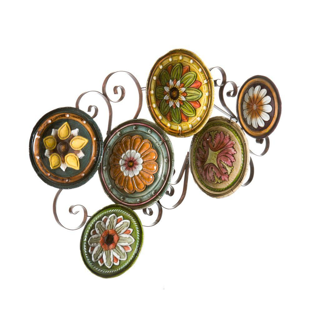 Scattered Metal Italian Plates Wall Decor With Regard To Fashionable Southern Enterprises Scattered Italian Plates Wall Art Ws9435 – The (Gallery 2 of 20)