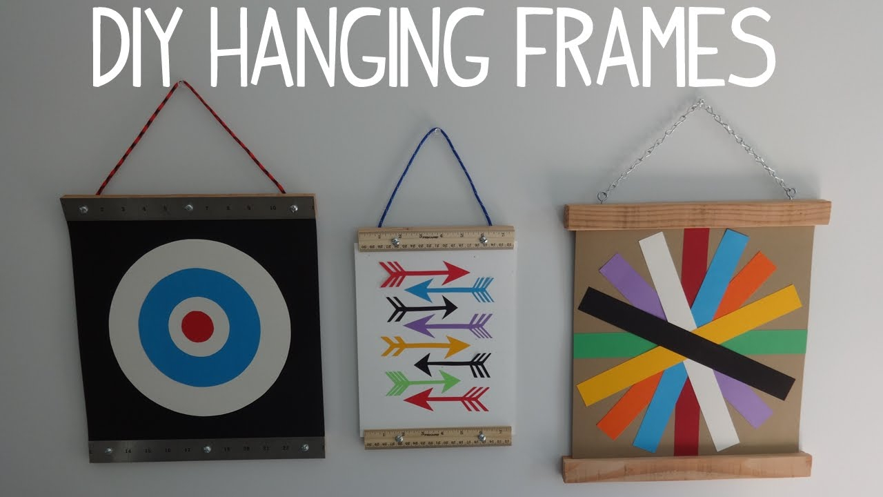Scroll Framed Wall Decor In 2019 Diy Hanging Wall Art / Photo Frame – Youtube (Gallery 20 of 20)