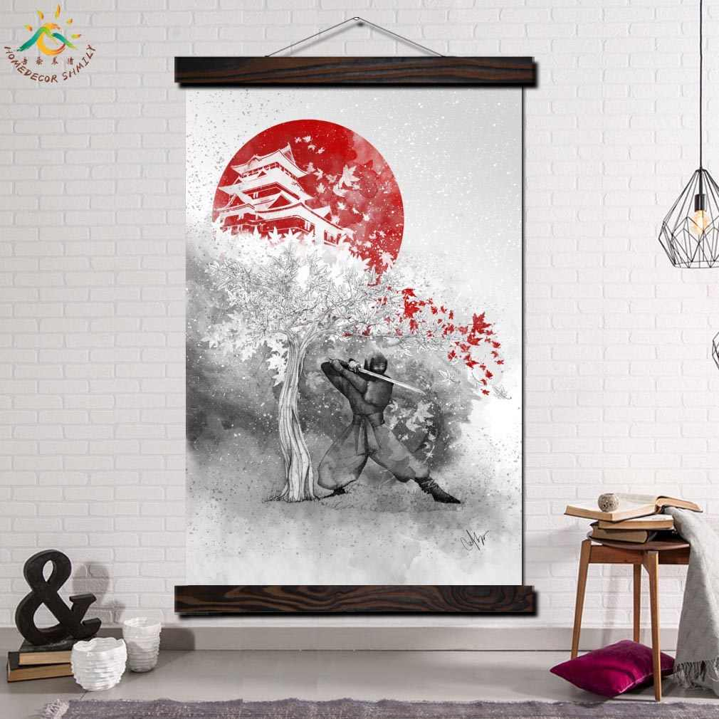 Scroll Framed Wall Decor With Regard To Favorite Detail Feedback Questions About Samurai Japan Single Framed Scroll (Gallery 7 of 20)