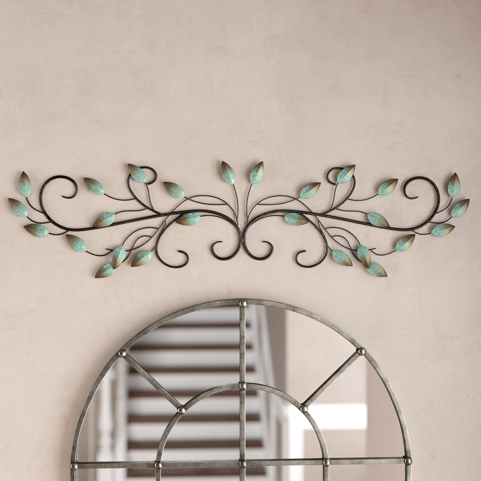 Featured Photo of Scroll Leaf Wall Decor