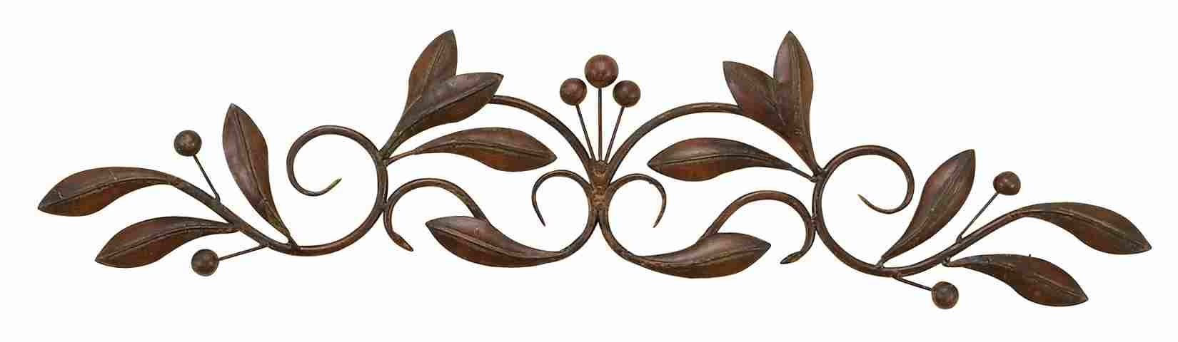 Scroll Leaf Wall Decor Throughout Preferred Rectangle Metal Scroll Wall Art (Gallery 15 of 20)