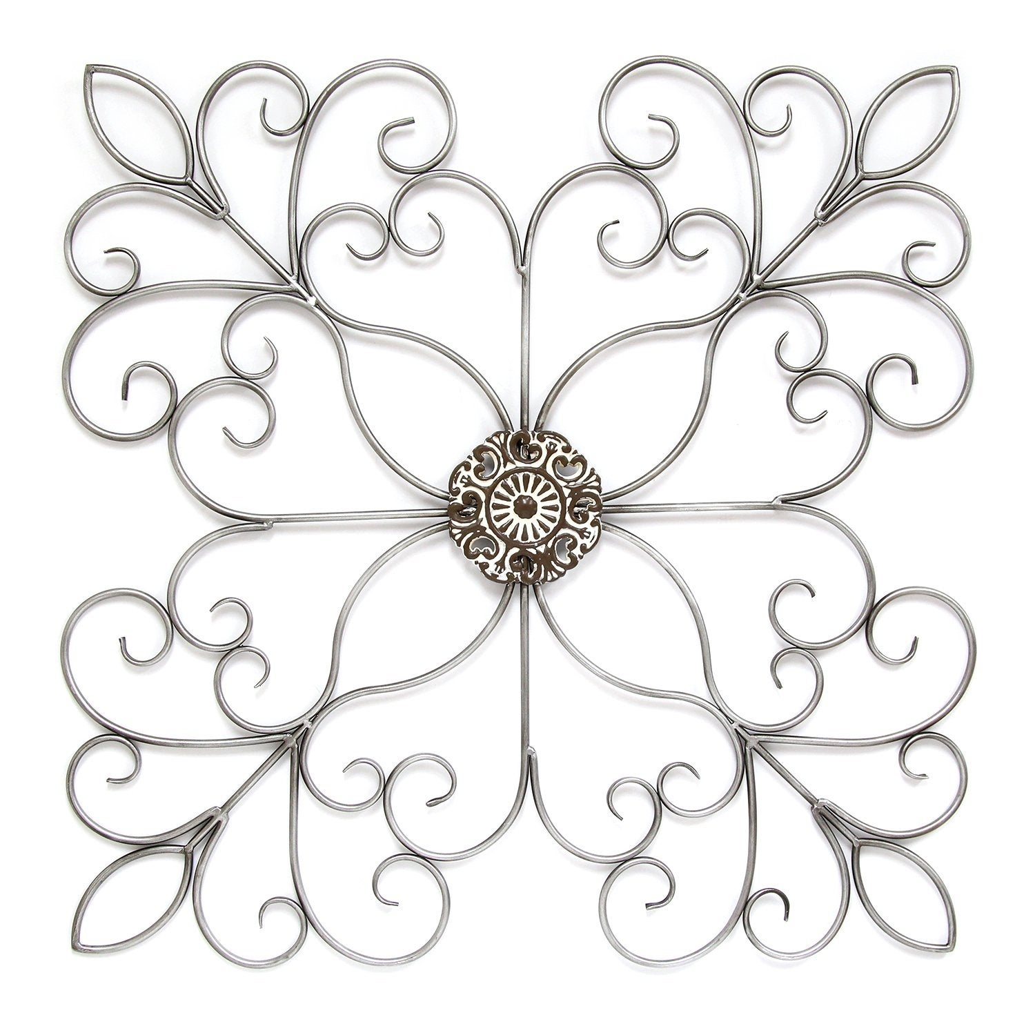 Shabby Medallion Wall Decor In Most Recently Released Shop Silver Square Medallion Wall Decor – Free Shipping Today (Gallery 20 of 20)