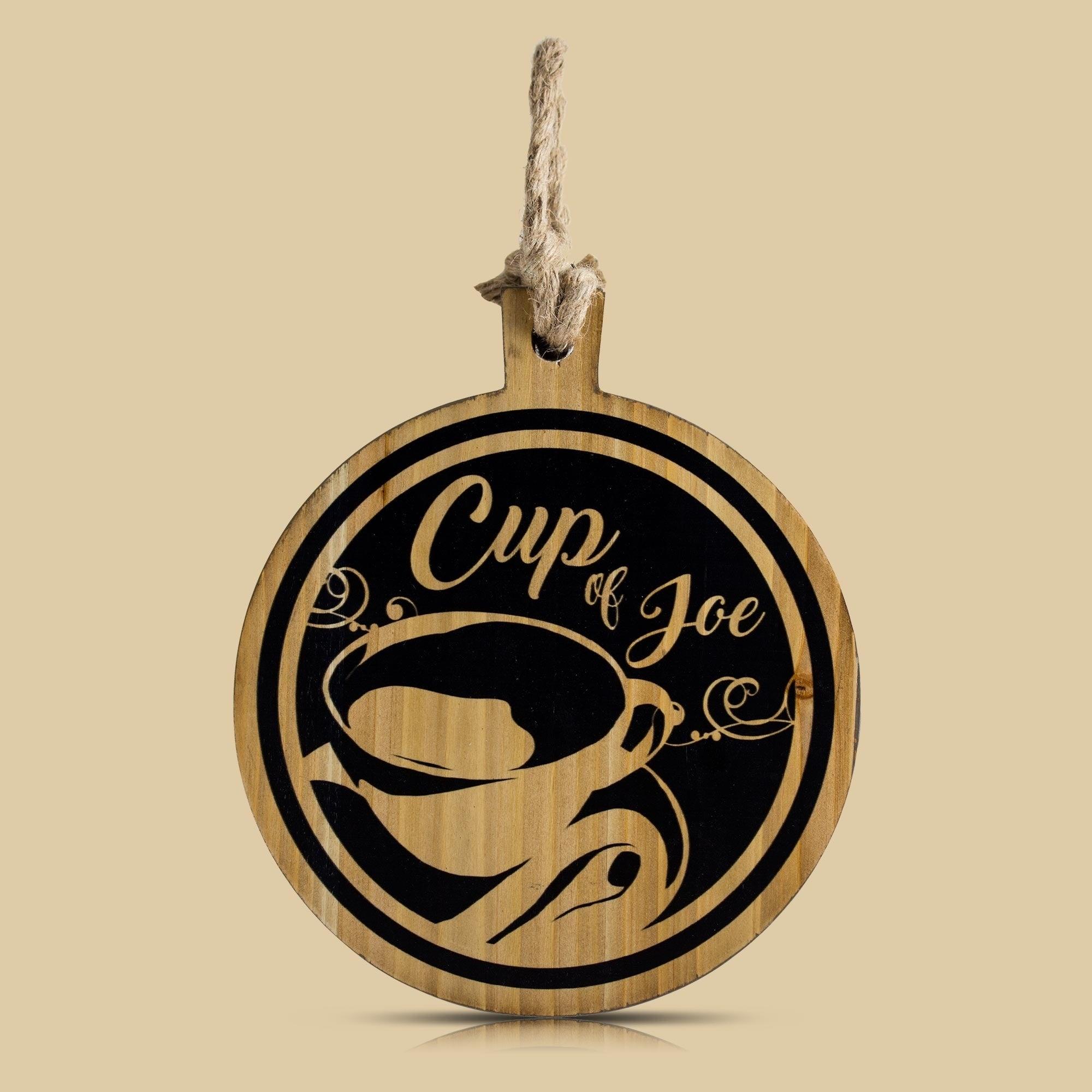 Shop American Art Decor Cup Of Joe Wood Coffee Wall Decor – Free Regarding Most Current Cup Of Joe Wall Decor (View 15 of 20)