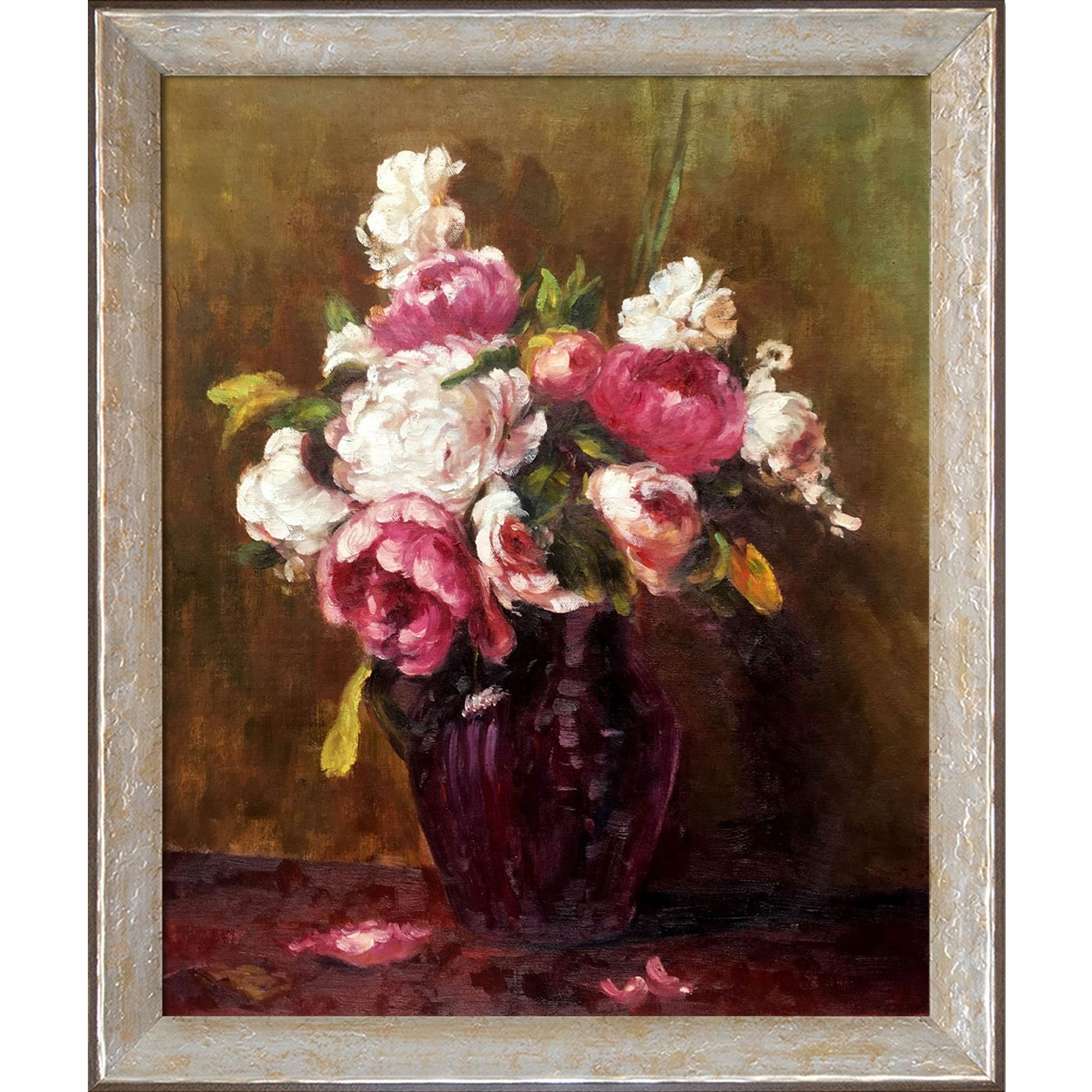 Shop La Pastiche White Peonies And Roses, Narcissushenri Fantin For Most Recently Released Latour Wall Decor (View 17 of 20)