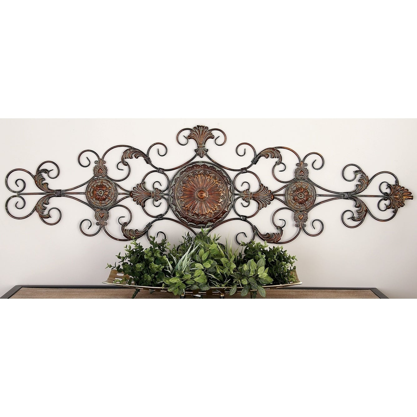 Shop Traditional 55 Inch Scroll And Acanthus Leaf Wall Decor Pertaining To Best And Newest Scroll Leaf Wall Decor (Gallery 5 of 20)