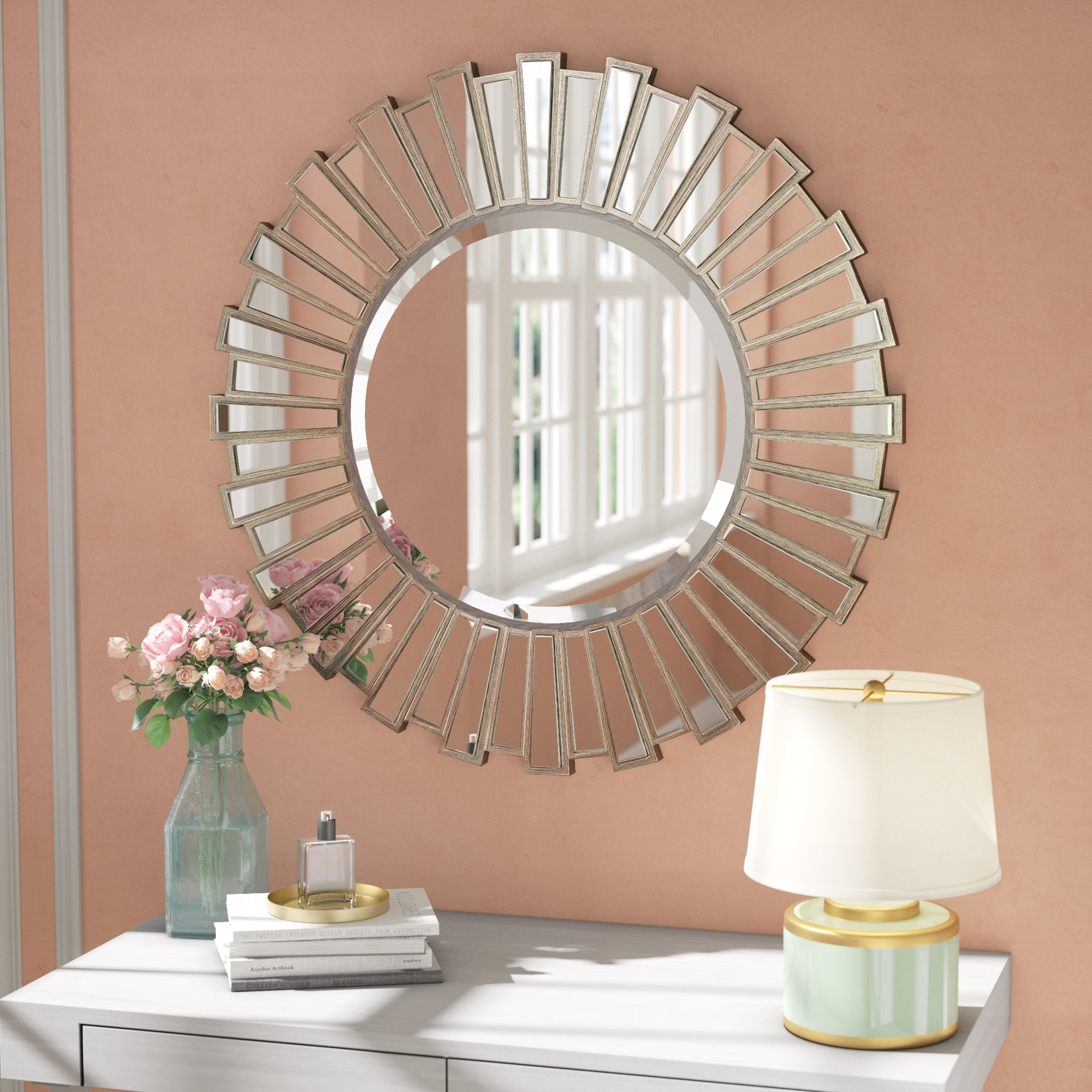 Starburst Wall Decor By Willa Arlo Interiors For Famous Willa Arlo Interiors Bertrand Sunburst Resin Accent Wall Mirror (Gallery 7 of 20)