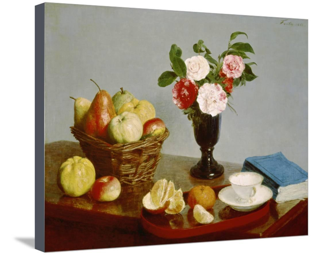 Still Life, 1866 Stretched Canvas Print Wall Arthenri Fantin Throughout Recent Latour Wall Decor (View 16 of 20)