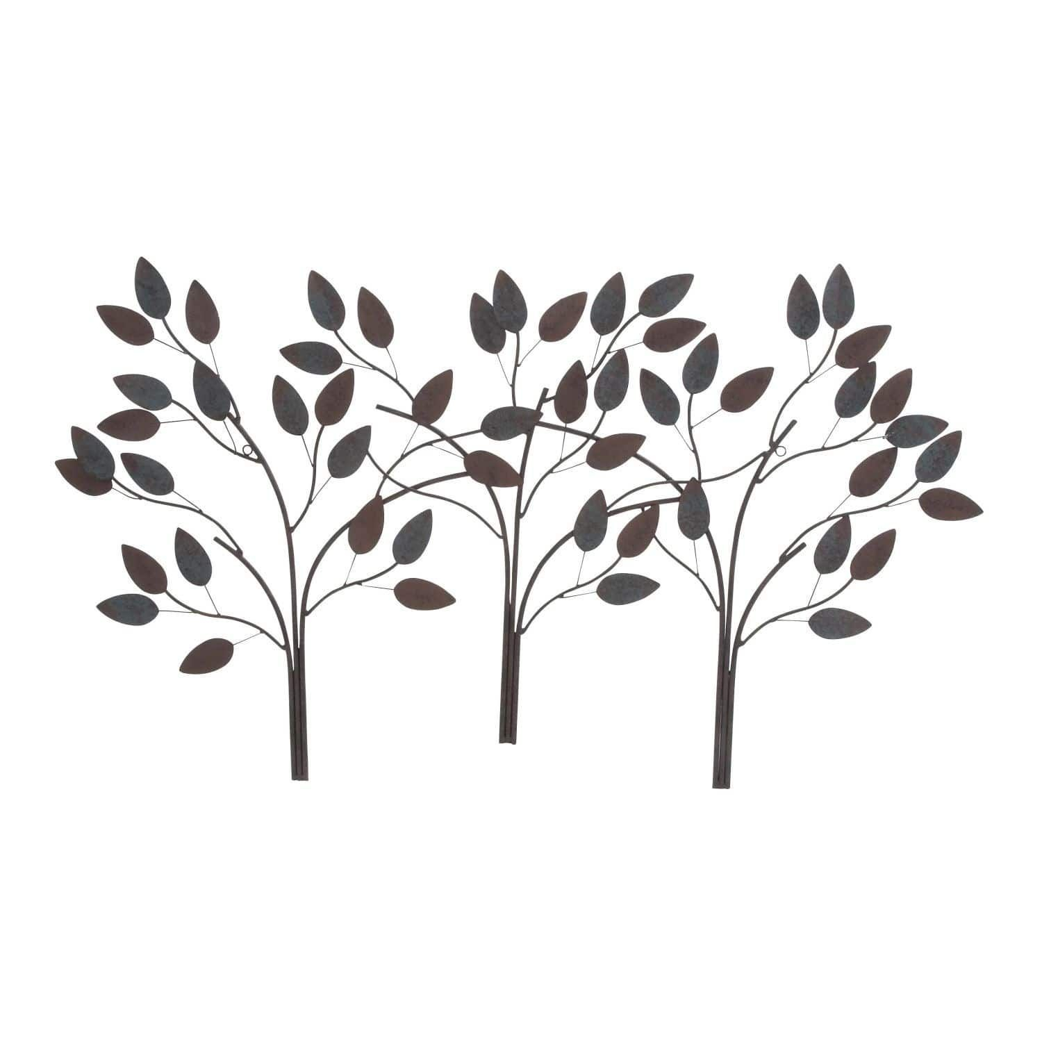 Studio 350 Metal Leaf Wall Decor 48 Inches Wide, 27 Inches High Within Well Liked Desford Leaf Wall Decor By Charlton Home (Gallery 8 of 20)