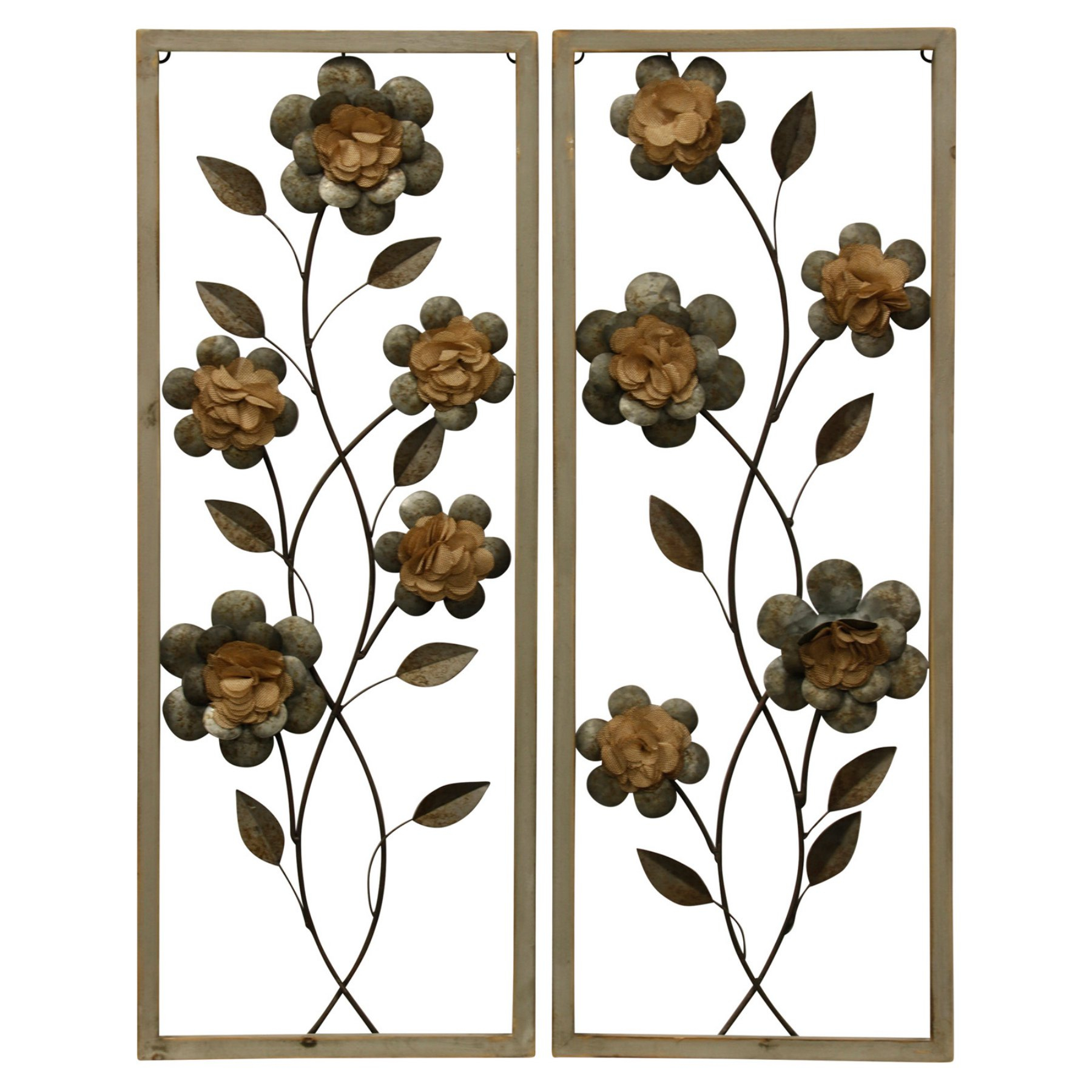 Stylecraft Framed Botanical I Wall Sculptures – Set Of 2 In 2019 Throughout Newest Leaves Metal Sculpture Wall Decor By Winston Porter (Gallery 19 of 20)