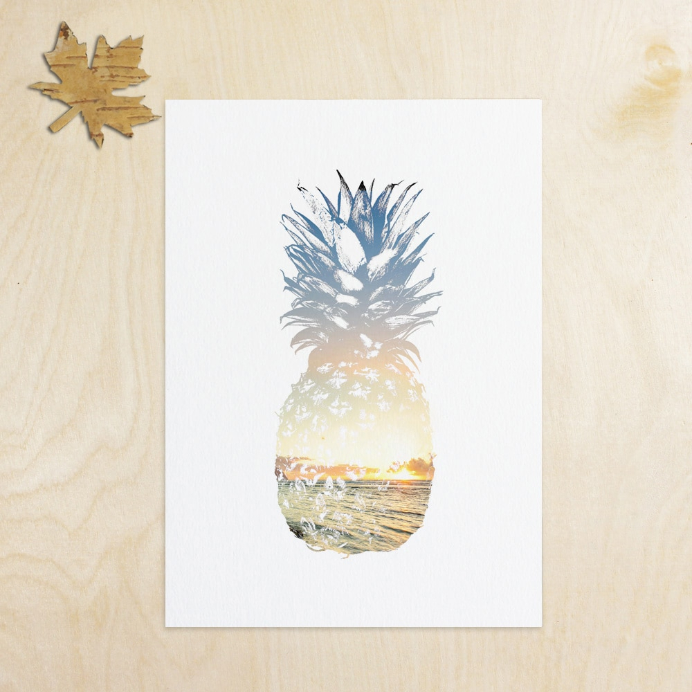 Summer Art Pineapple Wall Decor Tropical Decor Beach Decor Summer With Regard To Popular Pineapple Wall Decor (View 8 of 20)