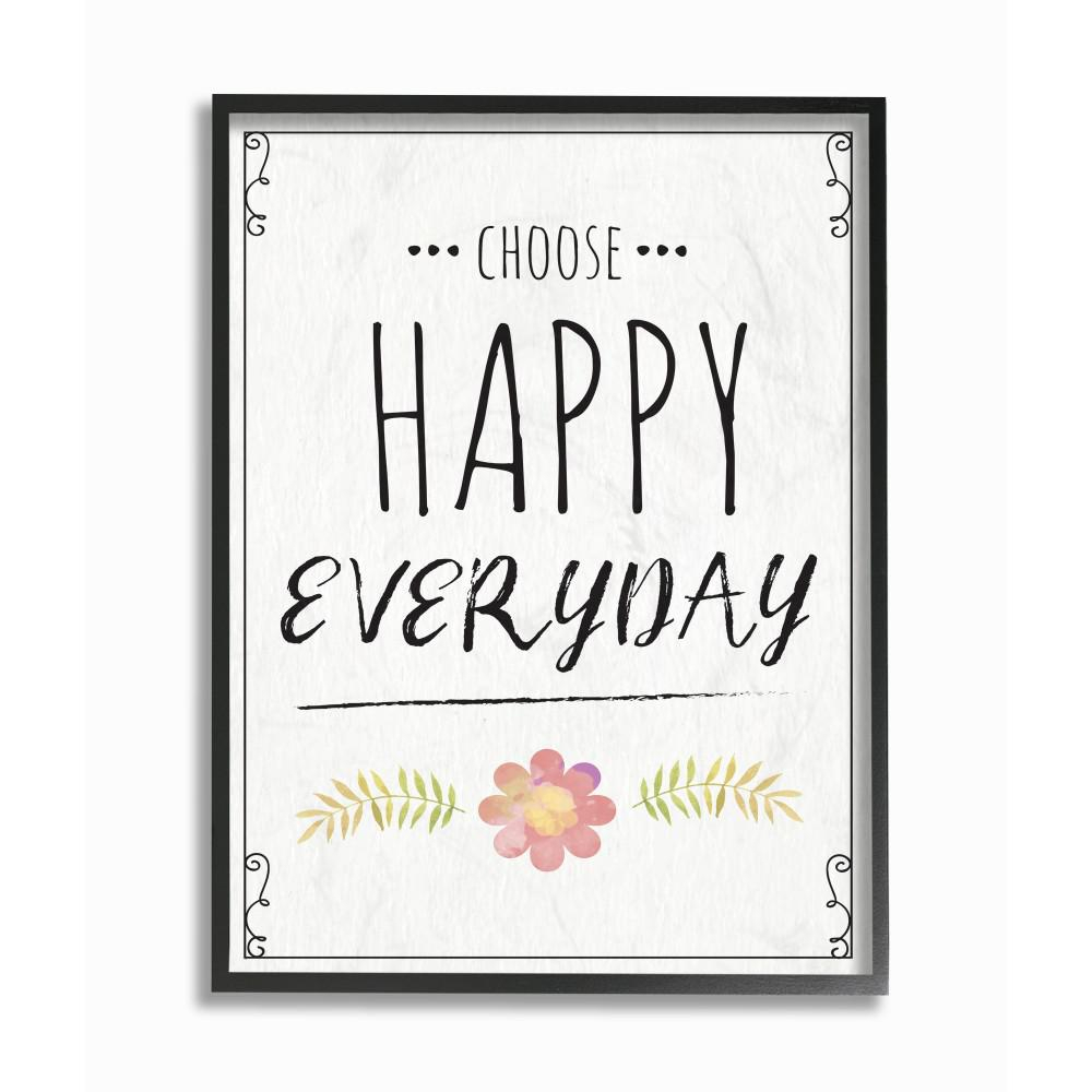 """The Stupell Home Decor Collection 24 In. X 30 In. """"Choose Happy Regarding 2020 Choose Happy Wood Wall Decor (Gallery 12 of 20)"""