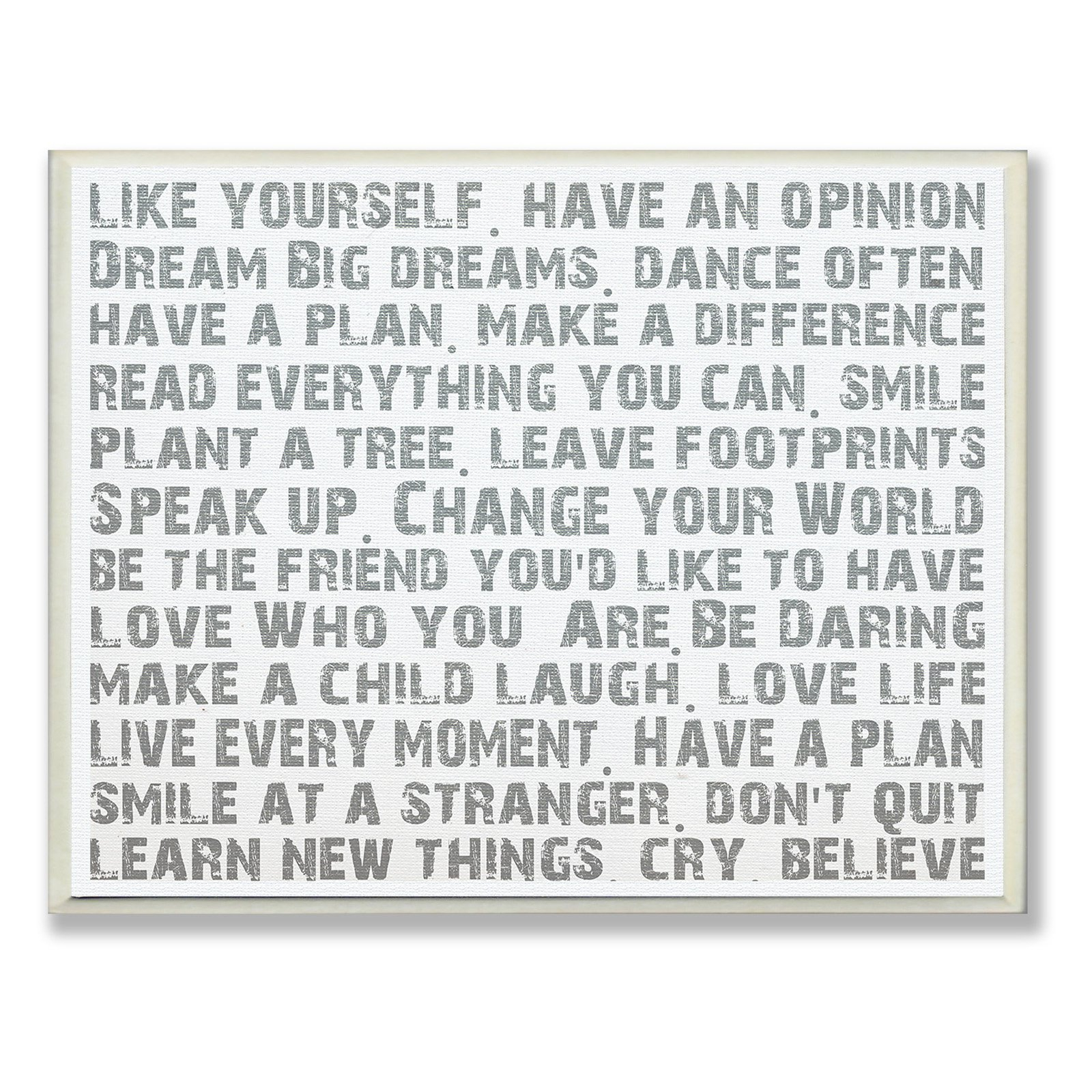 The Stupell Home Decor Collection Like Yourself Inspirational Within 2019 Rectangle Like Yourself Inspirational Typography Wall Plaque (Gallery 5 of 20)