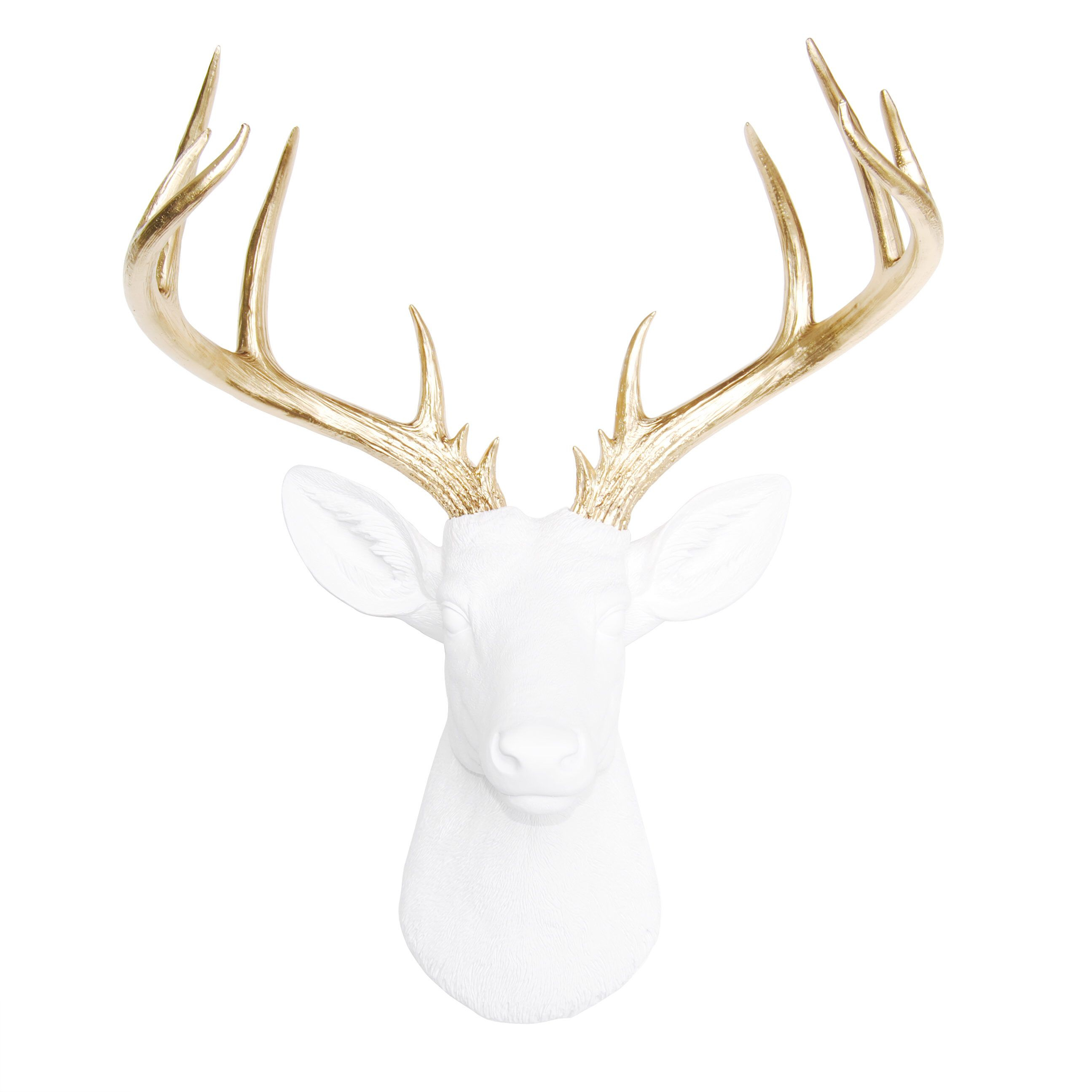 Featured Photo of Large Deer Head Faux Taxidermy Wall Decor
