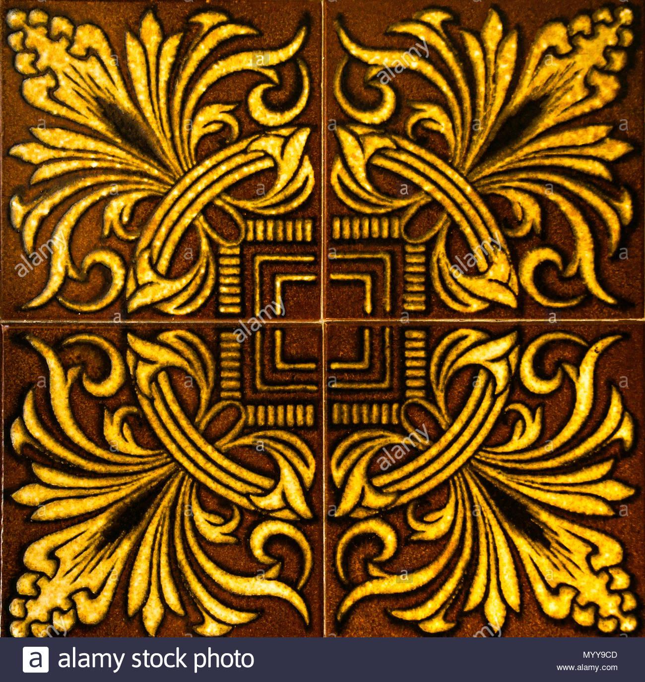 Traditional Ornamental Spanish Decorative Tiles, Original Ceramic For Newest Spanish Ornamental Wall Decor (Gallery 8 of 20)