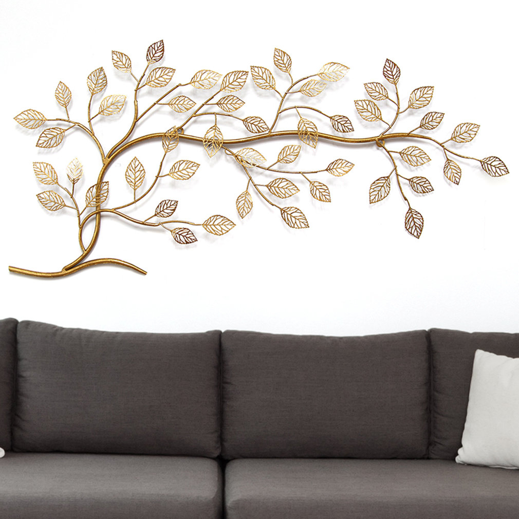 Tree Branch Wall Décor Intended For Most Popular Desford Leaf Wall Decor By Charlton Home (View 17 of 20)
