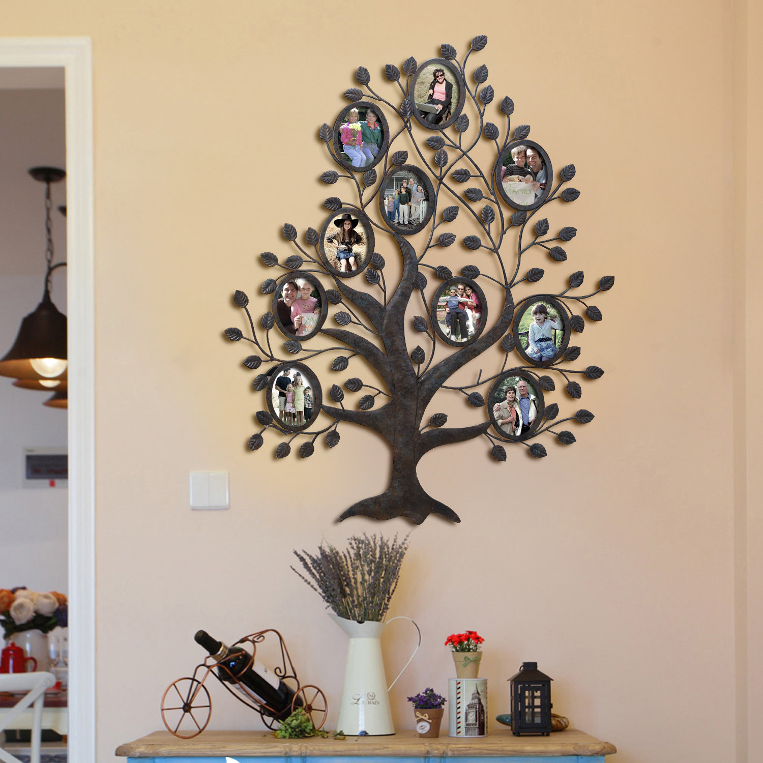 Tree Of Life Wall Decor By Red Barrel Studio Inside Most Recent Red Barrel Studio Medlock 10 Opening Decorative Family Tree Wall (View 4 of 20)