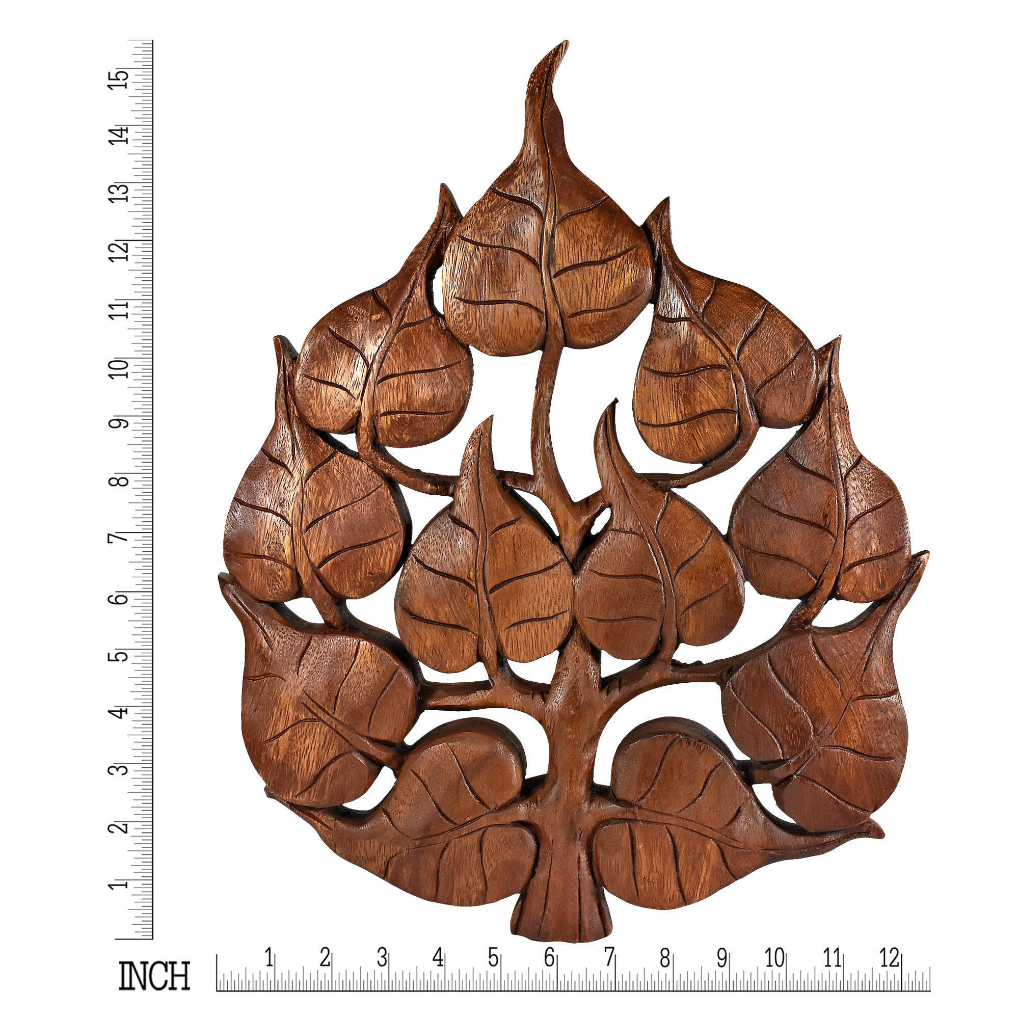Tree Shell Leaves Sculpture Wall Decor Throughout Preferred Shop Enlighten Pho Bodhi Tree Leaf Handmade Wall Art (thailand) – On (View 8 of 20)