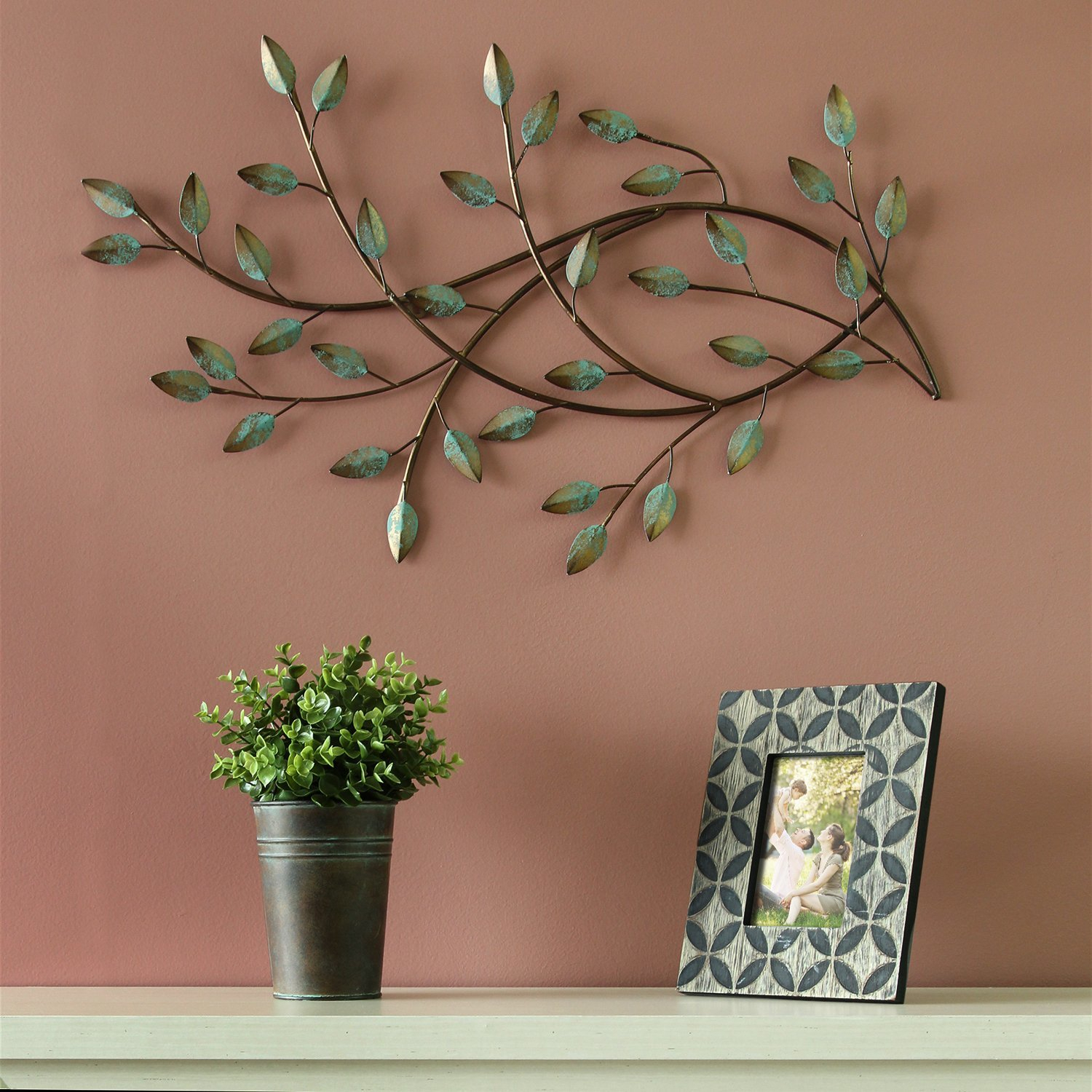 Trendy Desford Leaf Wall Decor By Charlton Home Inside Patina Blowing Leaves Wall Décor (View 18 of 20)