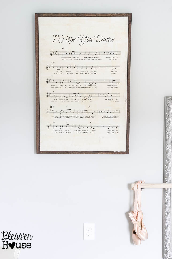 Trendy Let Whatever You Do Today Be Enough Wood Wall Decor Regarding Diy Oversized Sheet Music Sign (View 18 of 20)