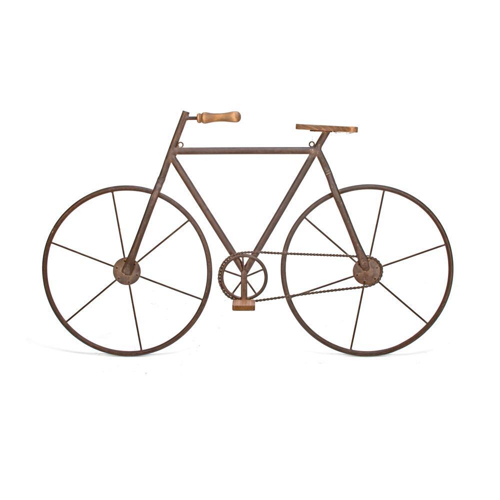 Trendy Metal Bicycle Wall Decor Regarding Tripar International Metal With Wood Brown Finish Bicycle Wall Art (View 3 of 20)