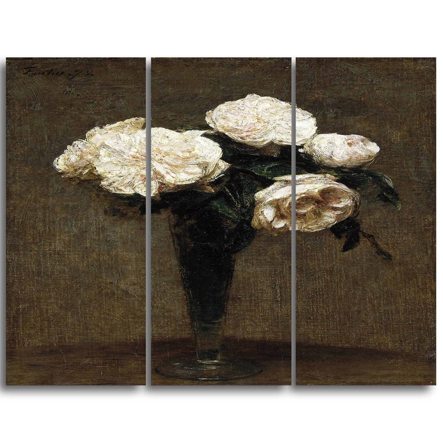 Trendy Shop Design Art 'henri Fantin Latour Roses In A Vase' Canvas Art In Latour Wall Decor (Gallery 15 of 20)