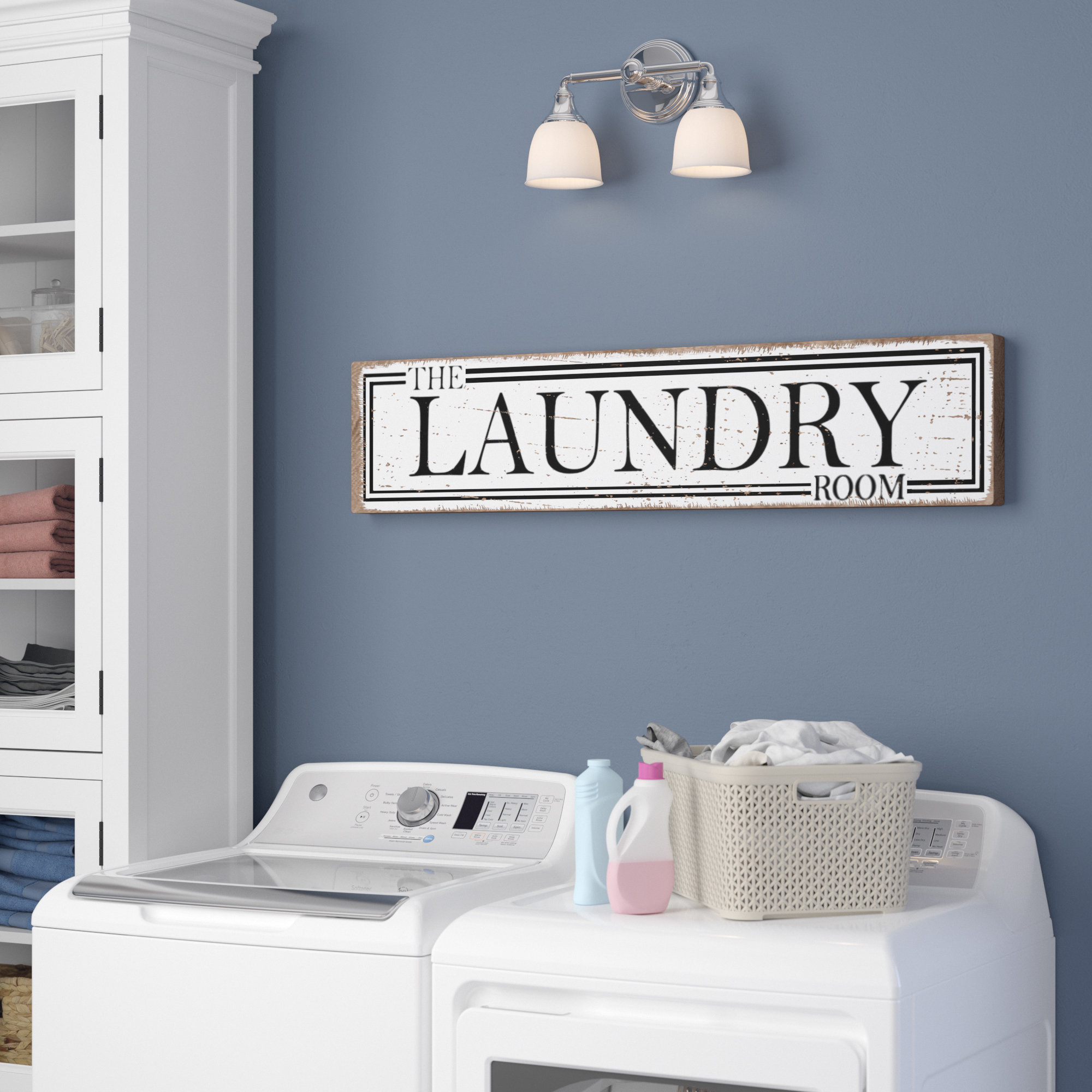 Trendy The Laundry Room Wall Décor Throughout Personalized Mint Distressed Vintage Look Laundry Metal Sign Wall Decor (View 16 of 20)