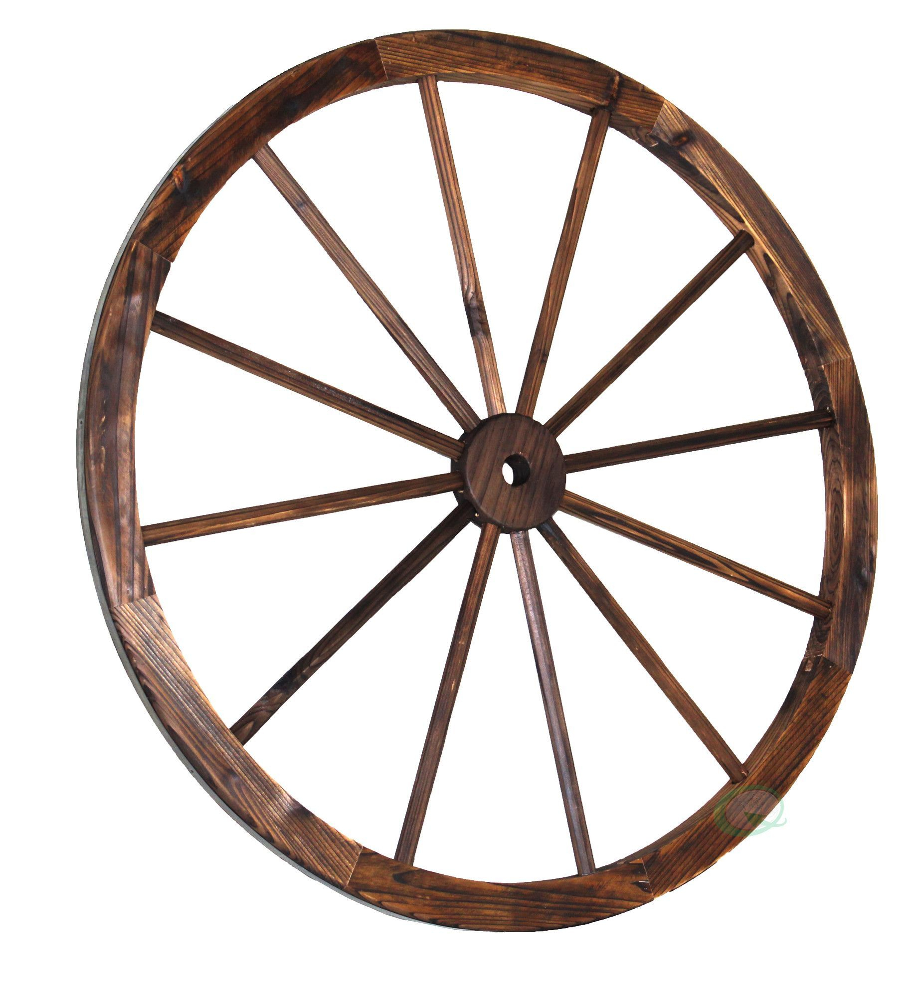 Wagon Wheel Decor, Wall pertaining to Millanocket Metal Wheel Photo Holder Wall Decor