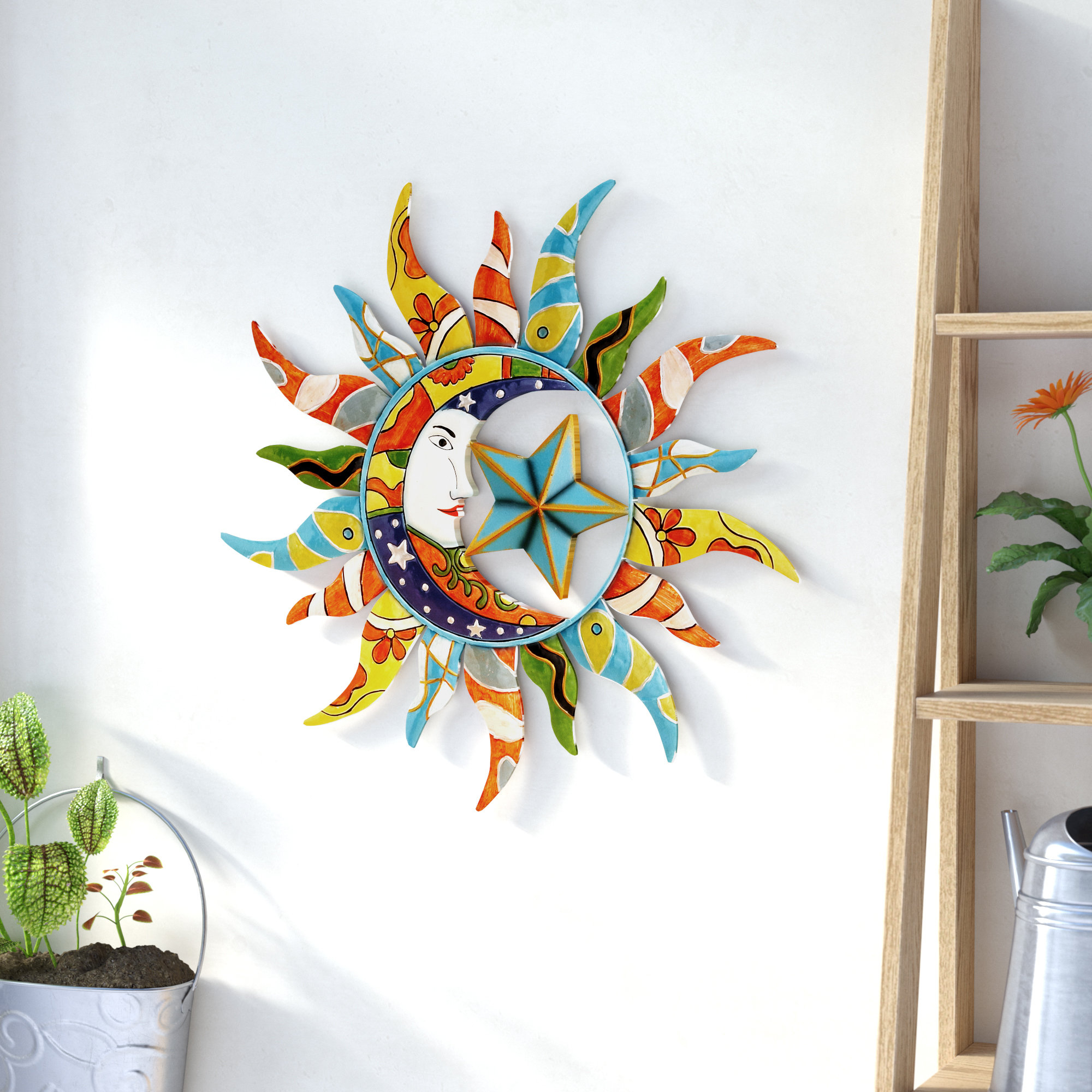 Featured Photo of Nature Metal Sun Wall Decor