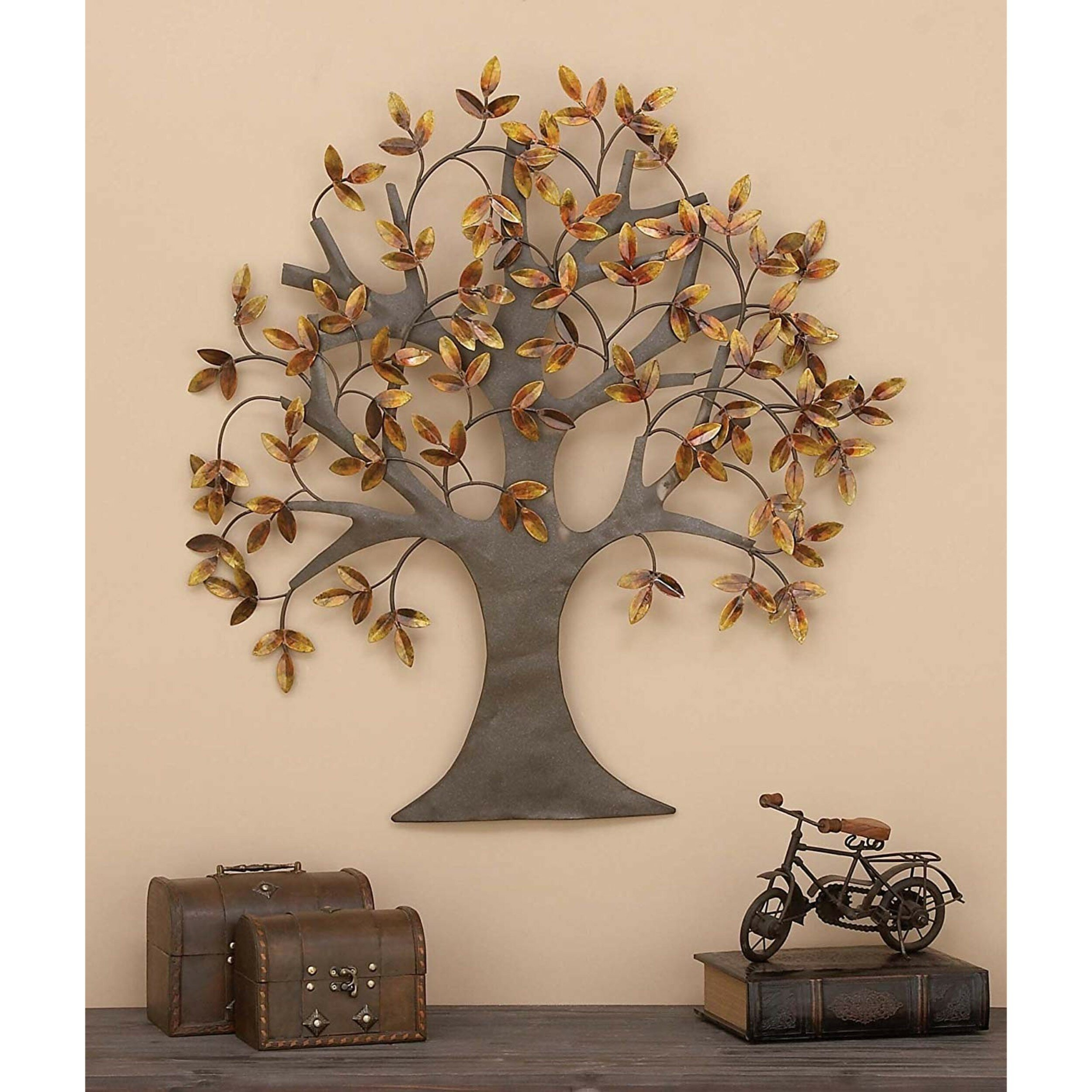 Wayfair For Fashionable Leaves Metal Sculpture Wall Decor By Winston Porter (View 13 of 20)