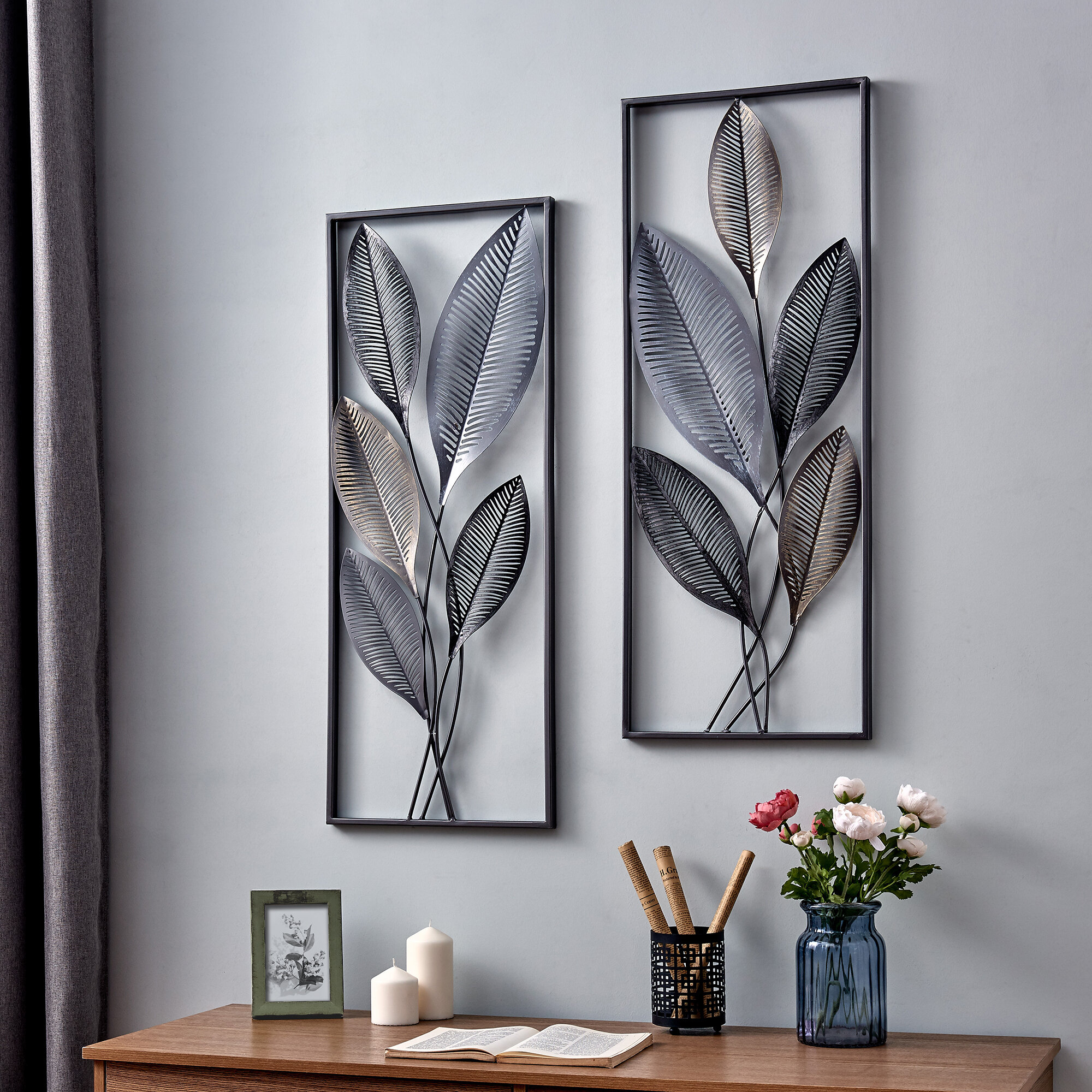 Wayfair In Recent Contemporary Iron Leaves Wall Decor By Winston Porter (View 6 of 20)